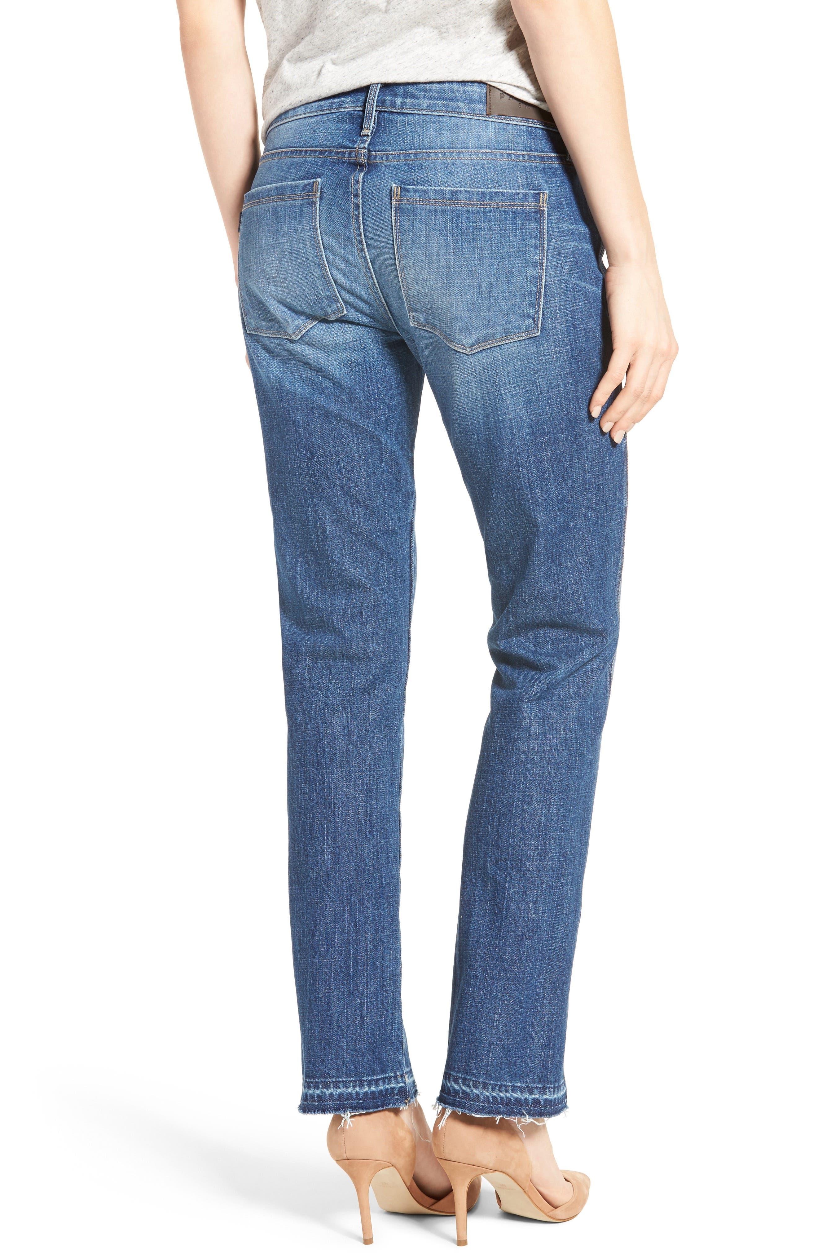 Vented Seam Straight Leg Jeans,                             Alternate thumbnail 2, color,                             483