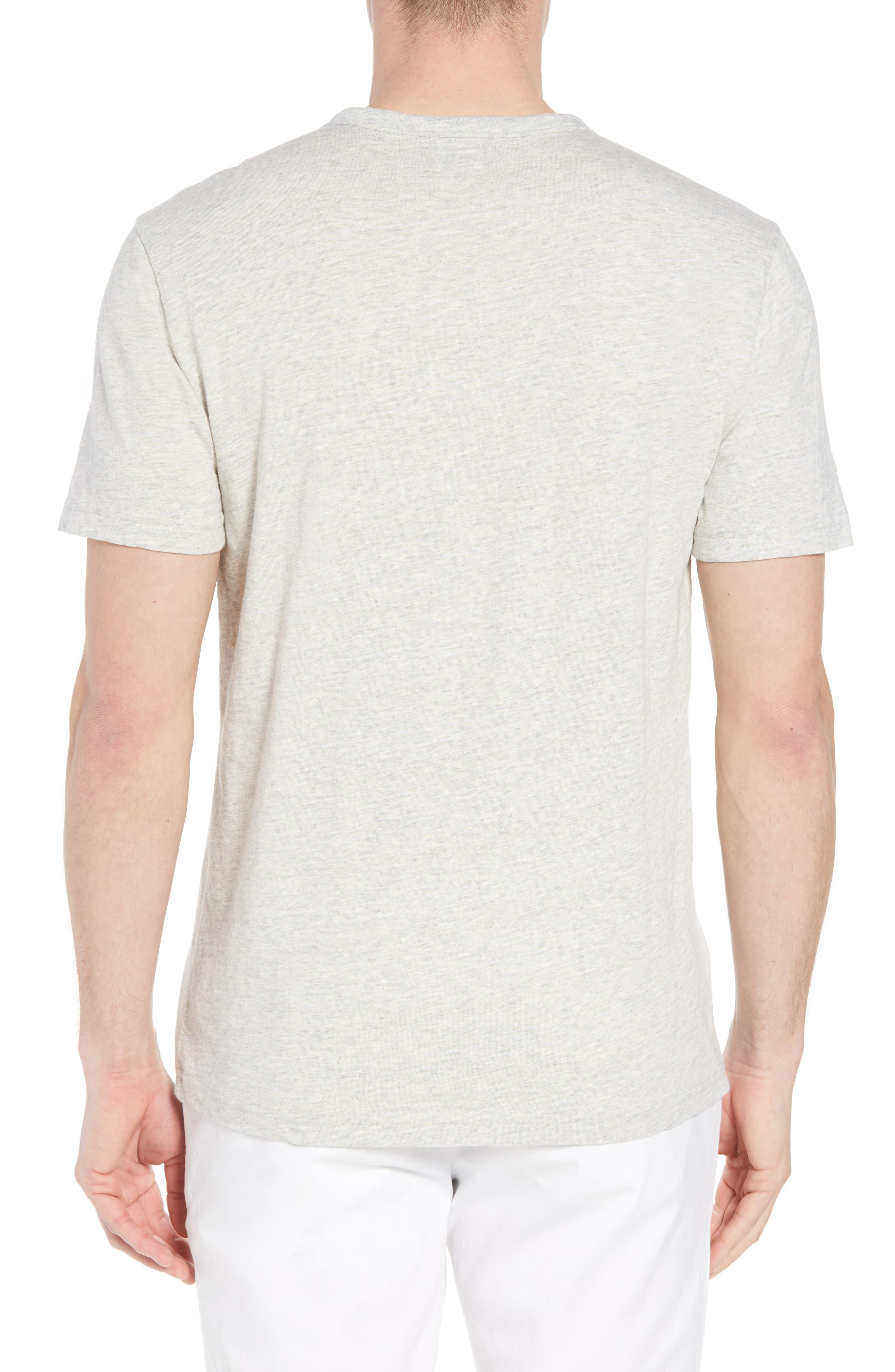 Chest Stripe Pocket T-Shirt,                             Alternate thumbnail 2, color,                             HEATHER GREY STRIPE