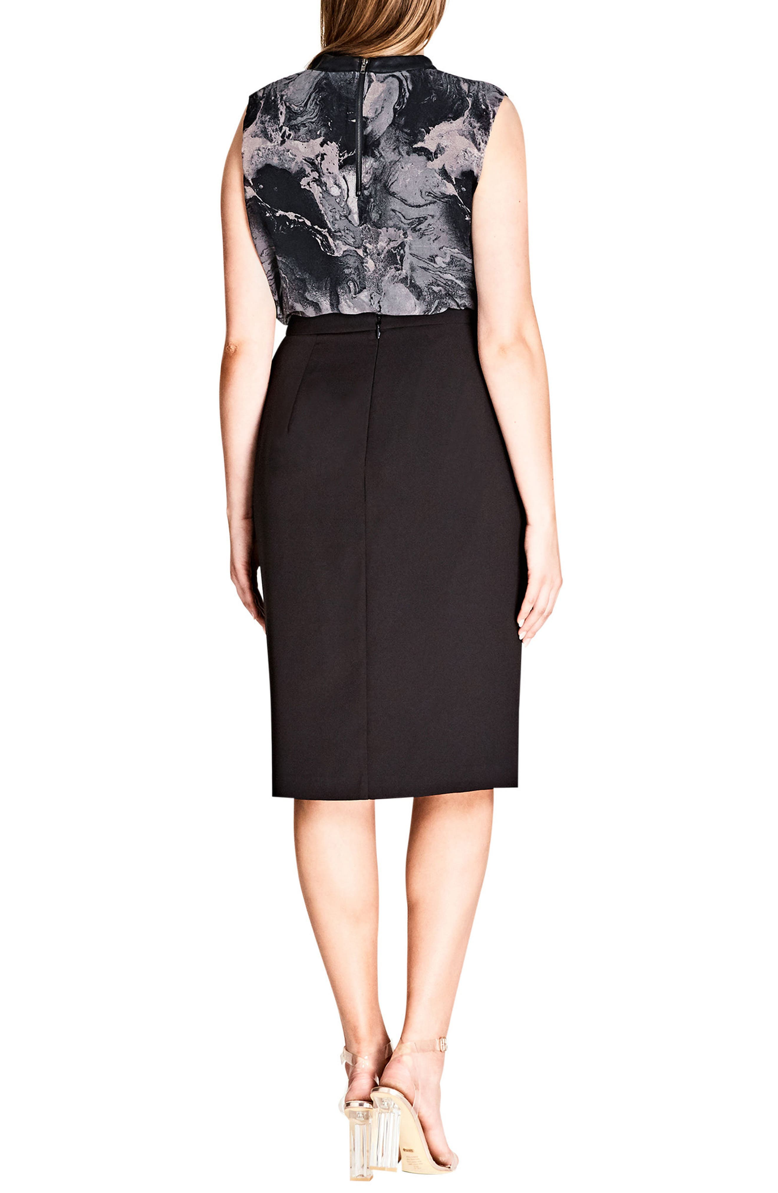 CITY CHIC,                             Sharp Stud Skirt,                             Alternate thumbnail 2, color,                             001