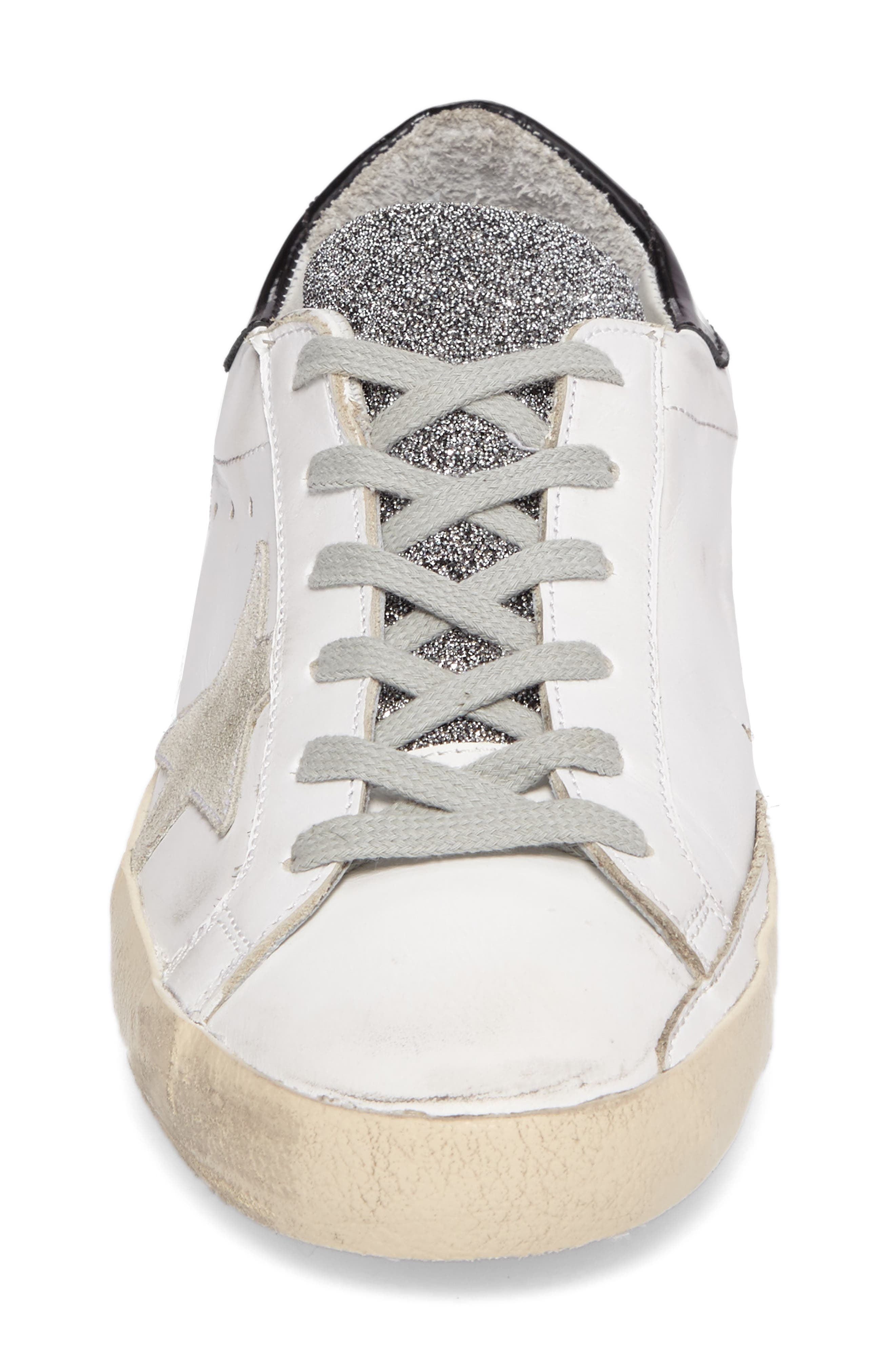 Superstar Low Top Sneaker,                             Alternate thumbnail 4, color,                             100
