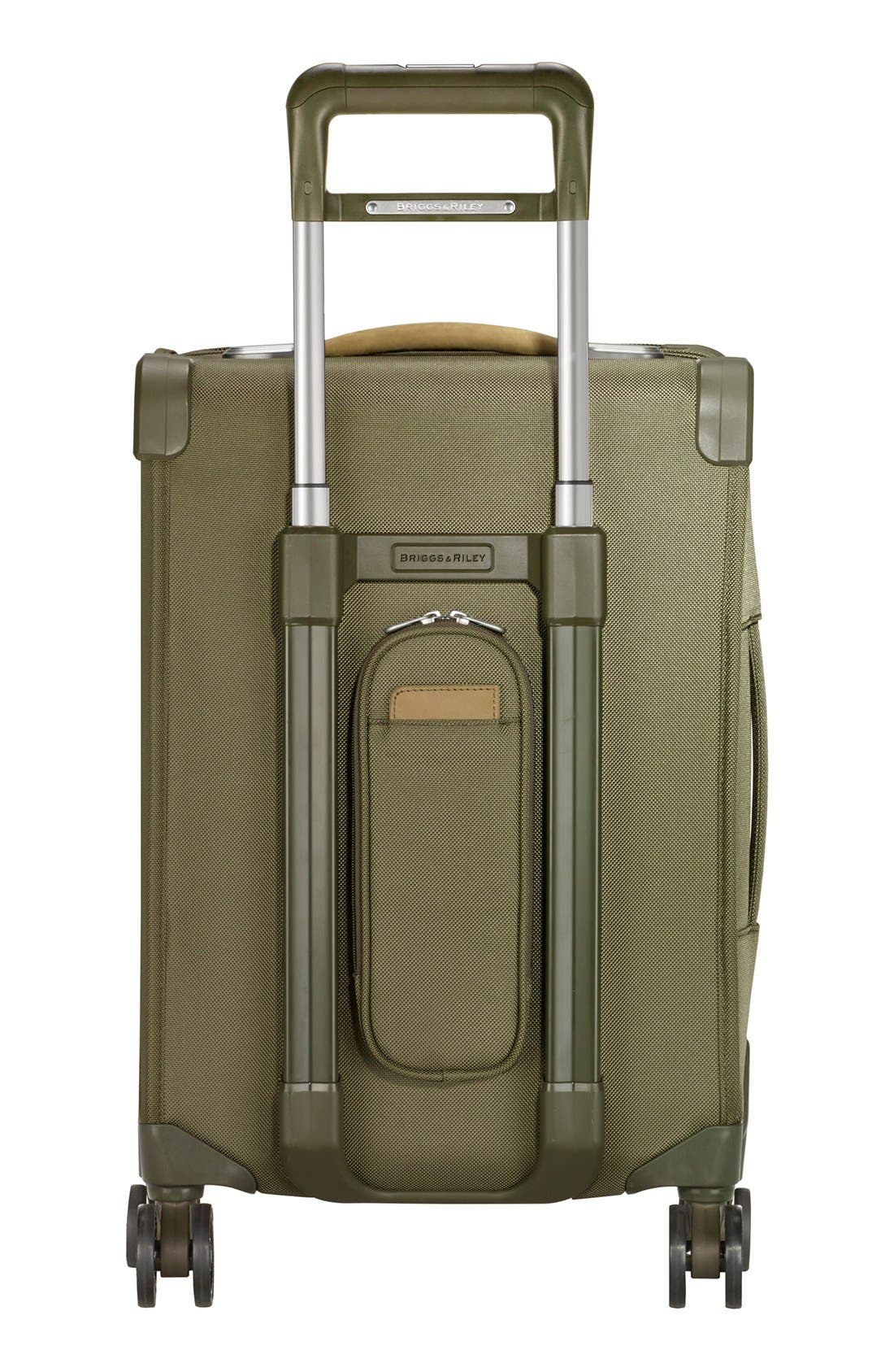 Baseline Domestic 22-Inch Expandable Rolling Carry-On,                             Alternate thumbnail 4, color,                             OLIVE