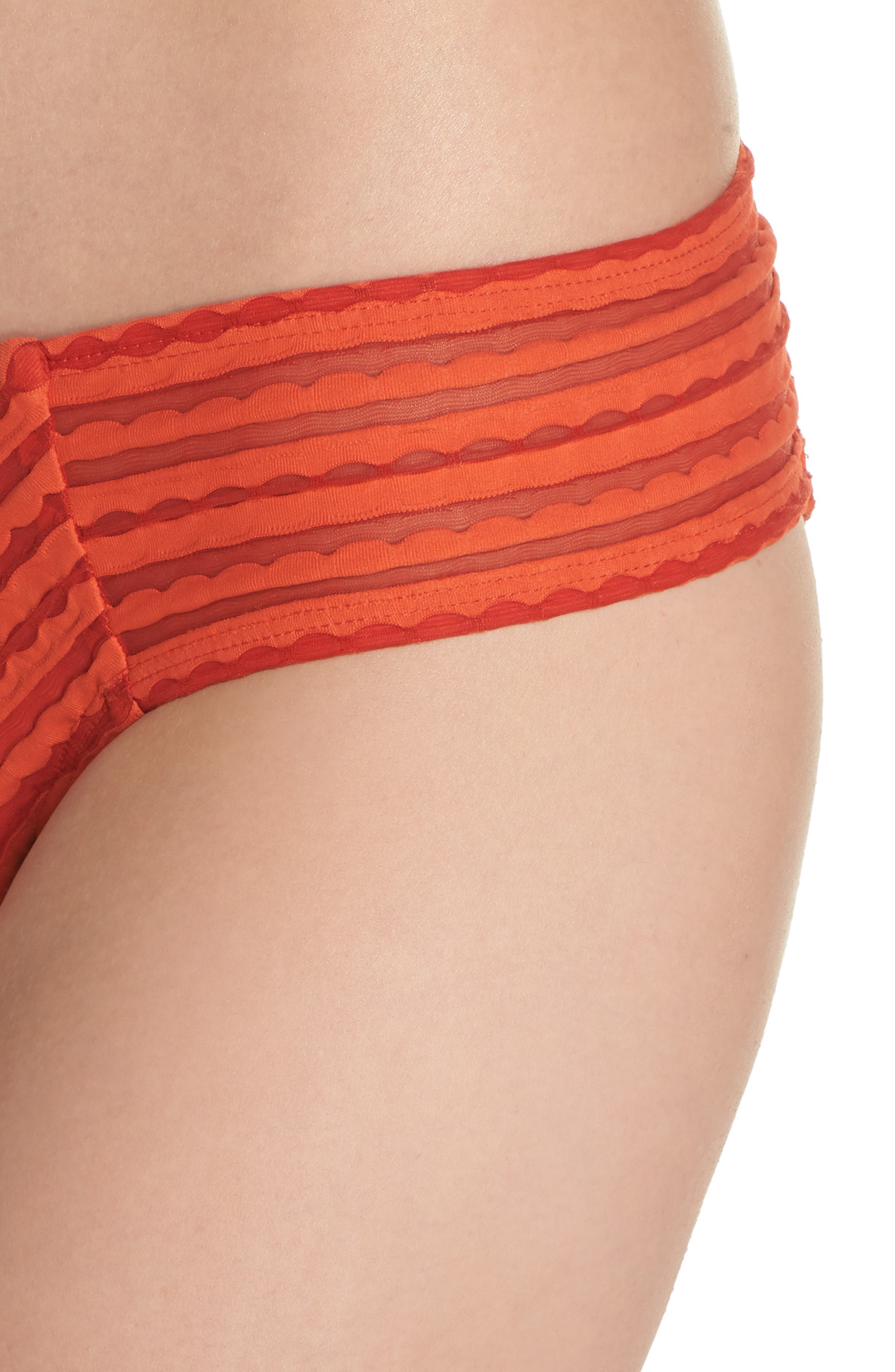 Carly Hipster Bikini Bottoms,                             Alternate thumbnail 4, color,                             PIMENTO
