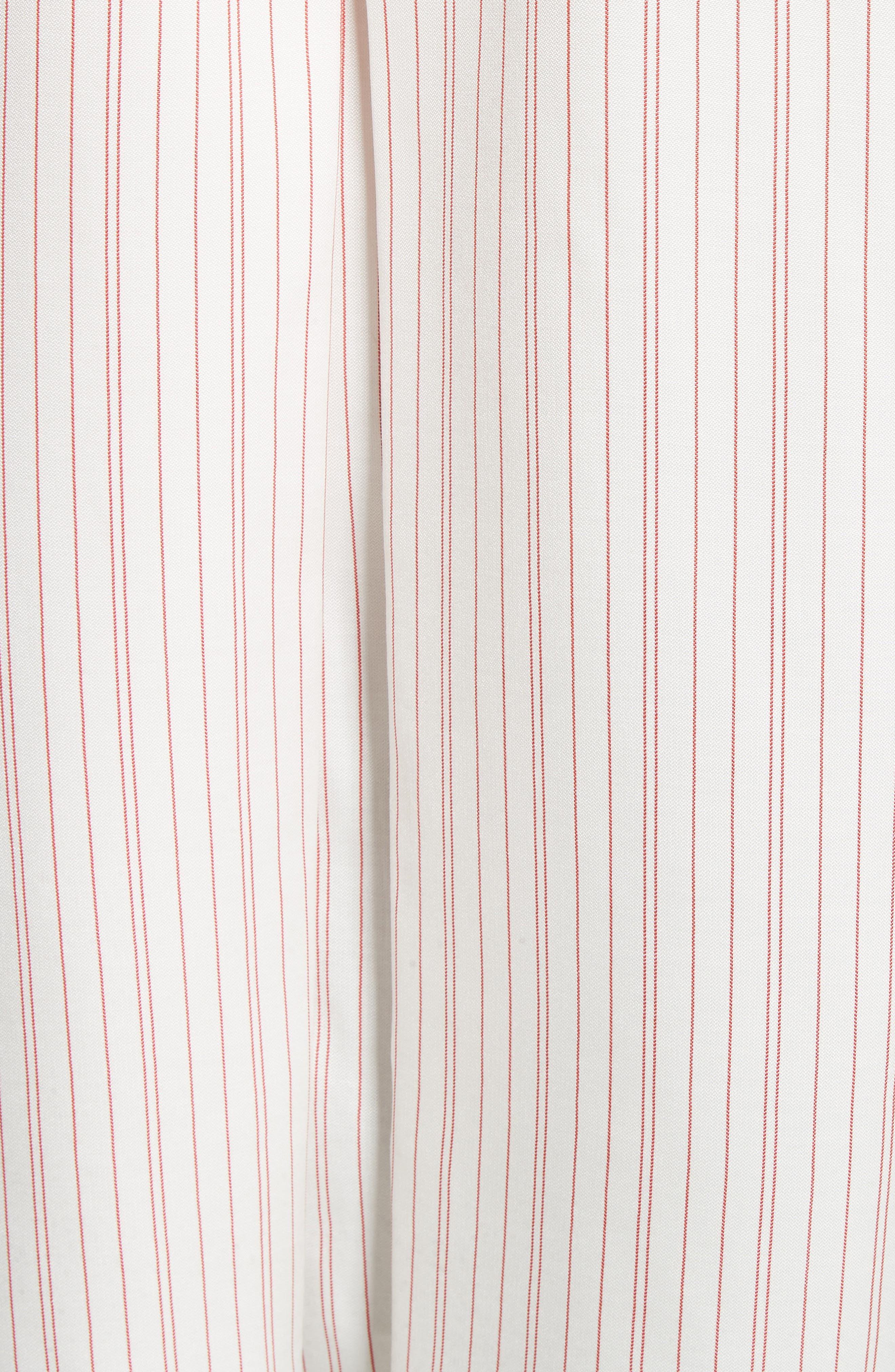 Stripe High/Low Blouse,                             Alternate thumbnail 5, color,                             100