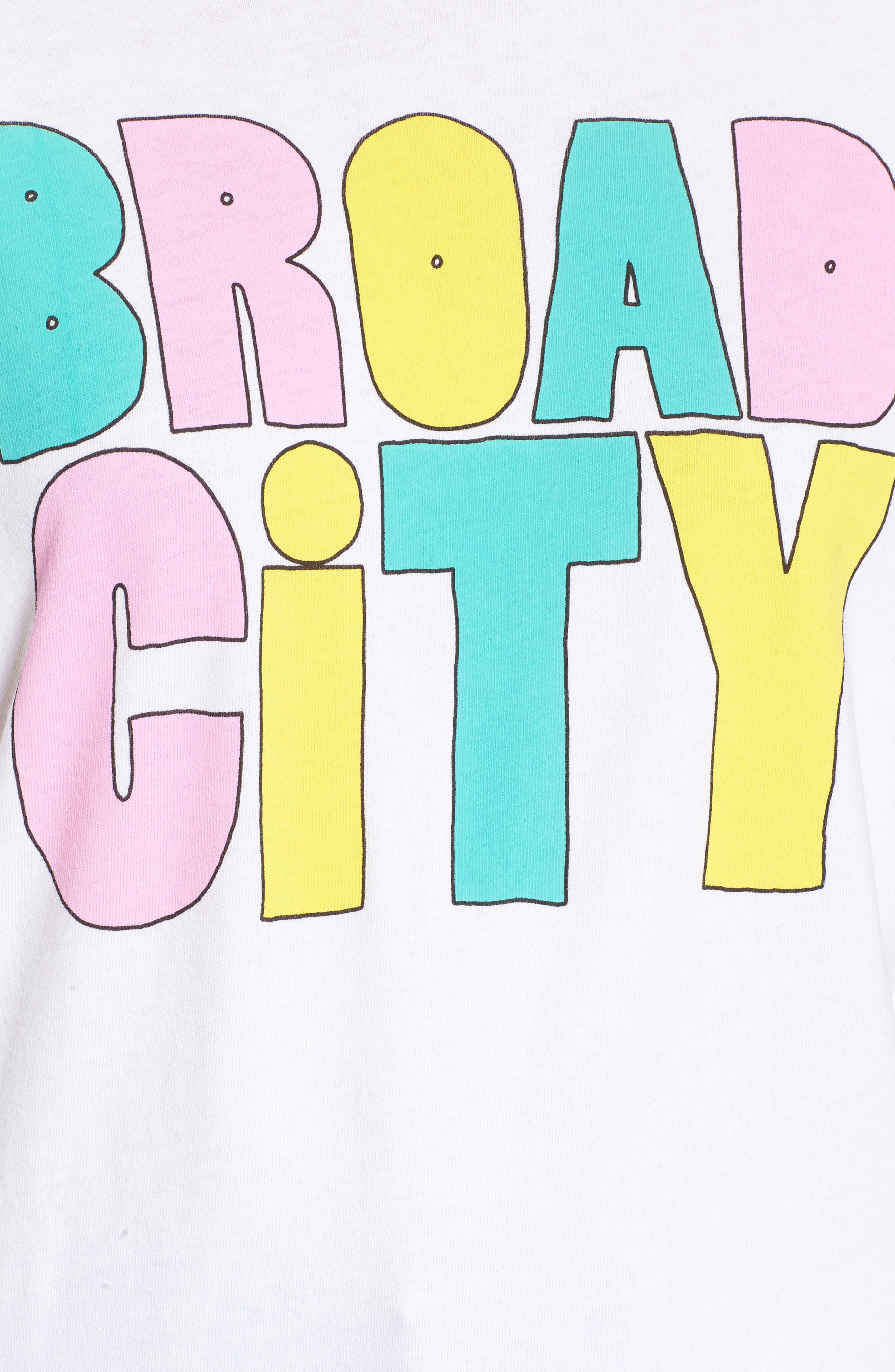 Broad City Cotton Graphic Sweatshirt,                             Alternate thumbnail 5, color,                             100