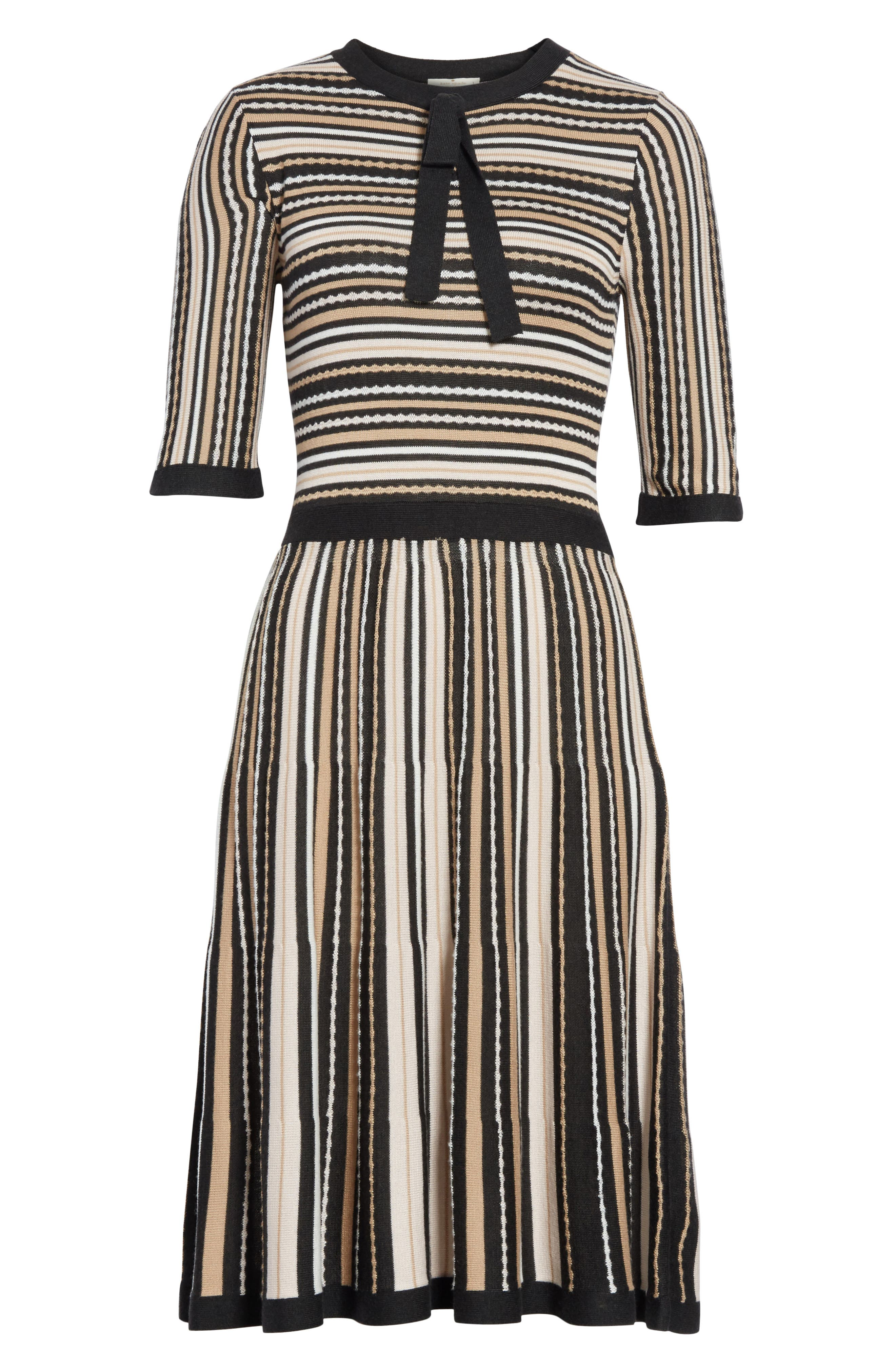 stripe sweater dress,                             Alternate thumbnail 7, color,                             677