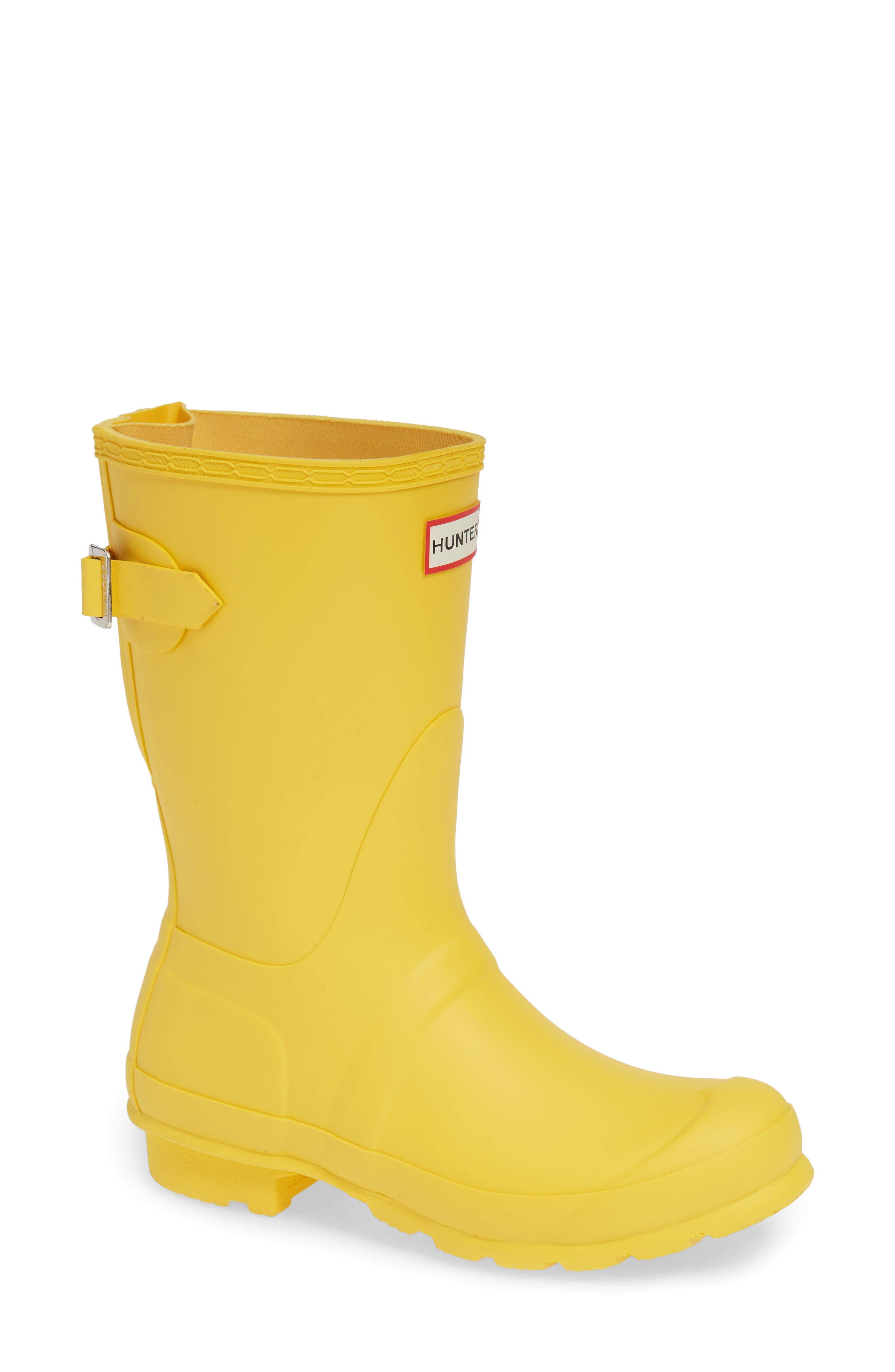 Original Short Back Adjustable Rain Boot,                         Main,                         color, YELLOW