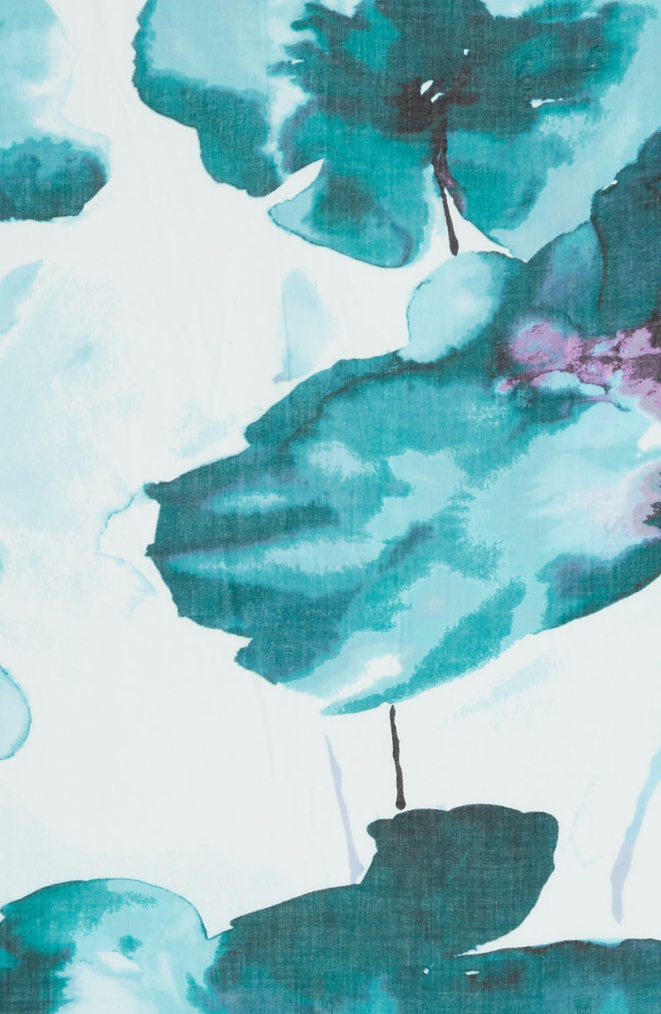 Eyelash Trim Print Cashmere & Silk Wrap,                             Alternate thumbnail 101, color,