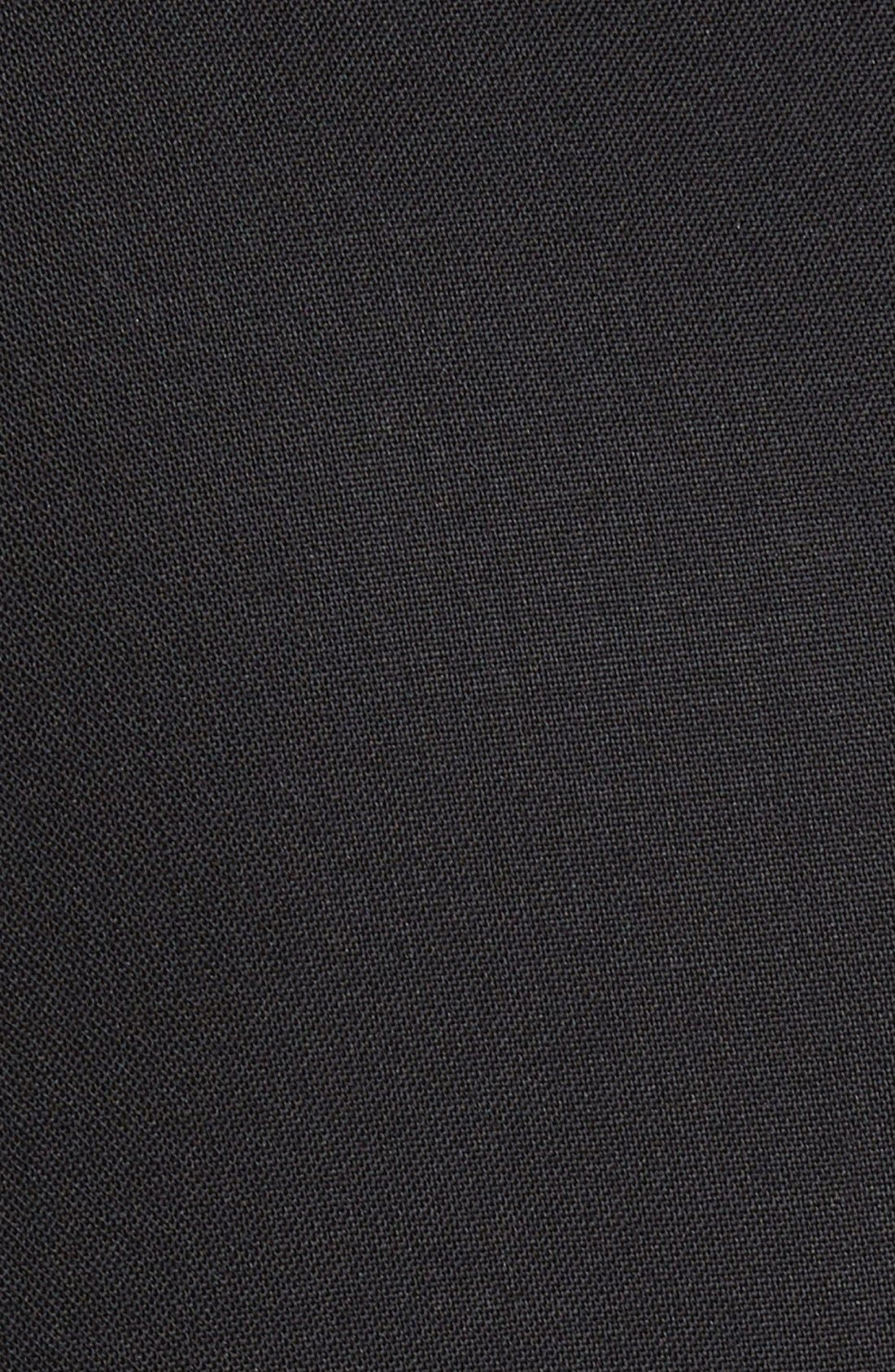 Ludlow Trim Fit Solid Wool Vest,                             Alternate thumbnail 4, color,                             001