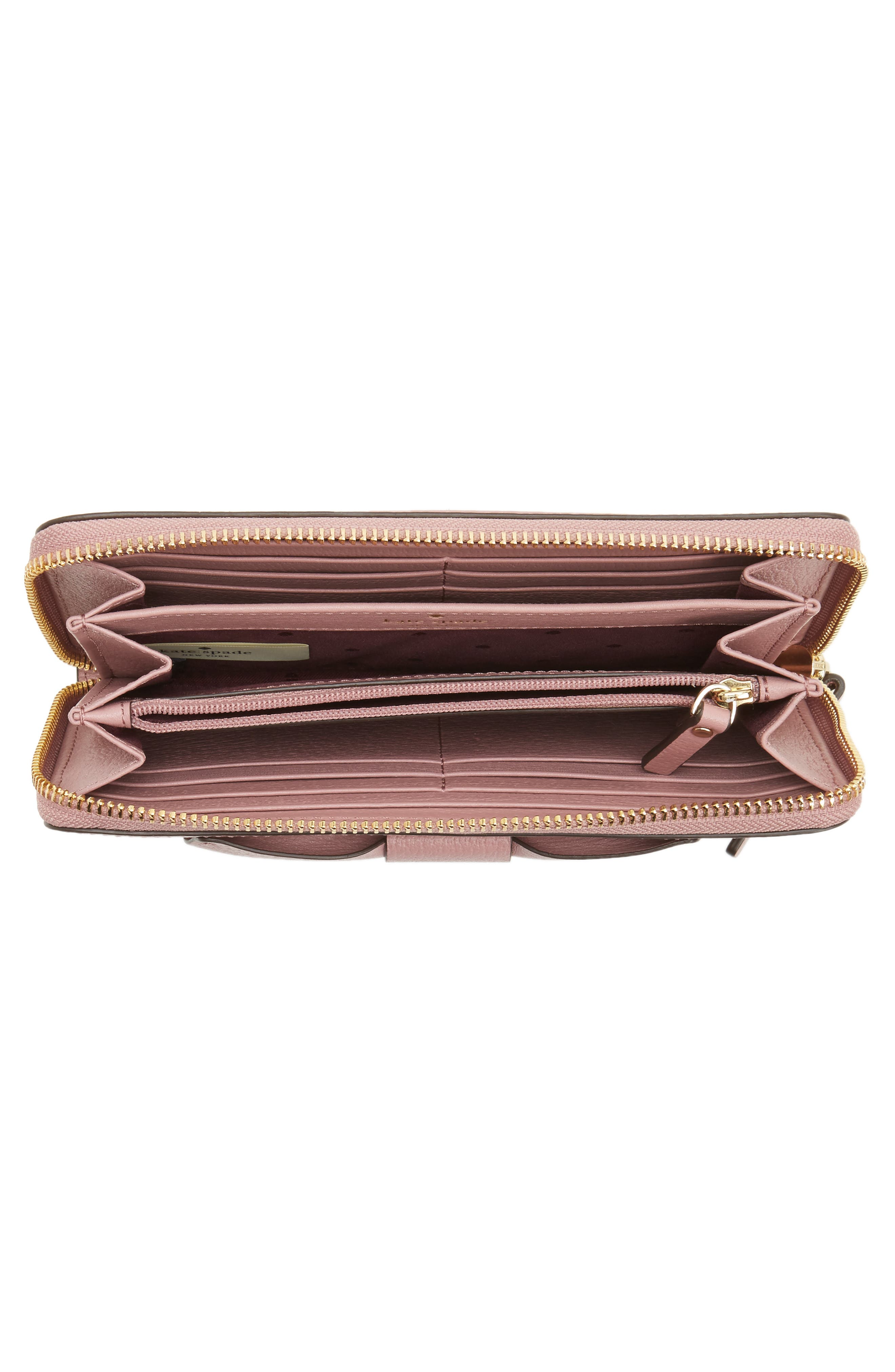 olive drive - lacey bow leather wallet,                             Alternate thumbnail 8, color,