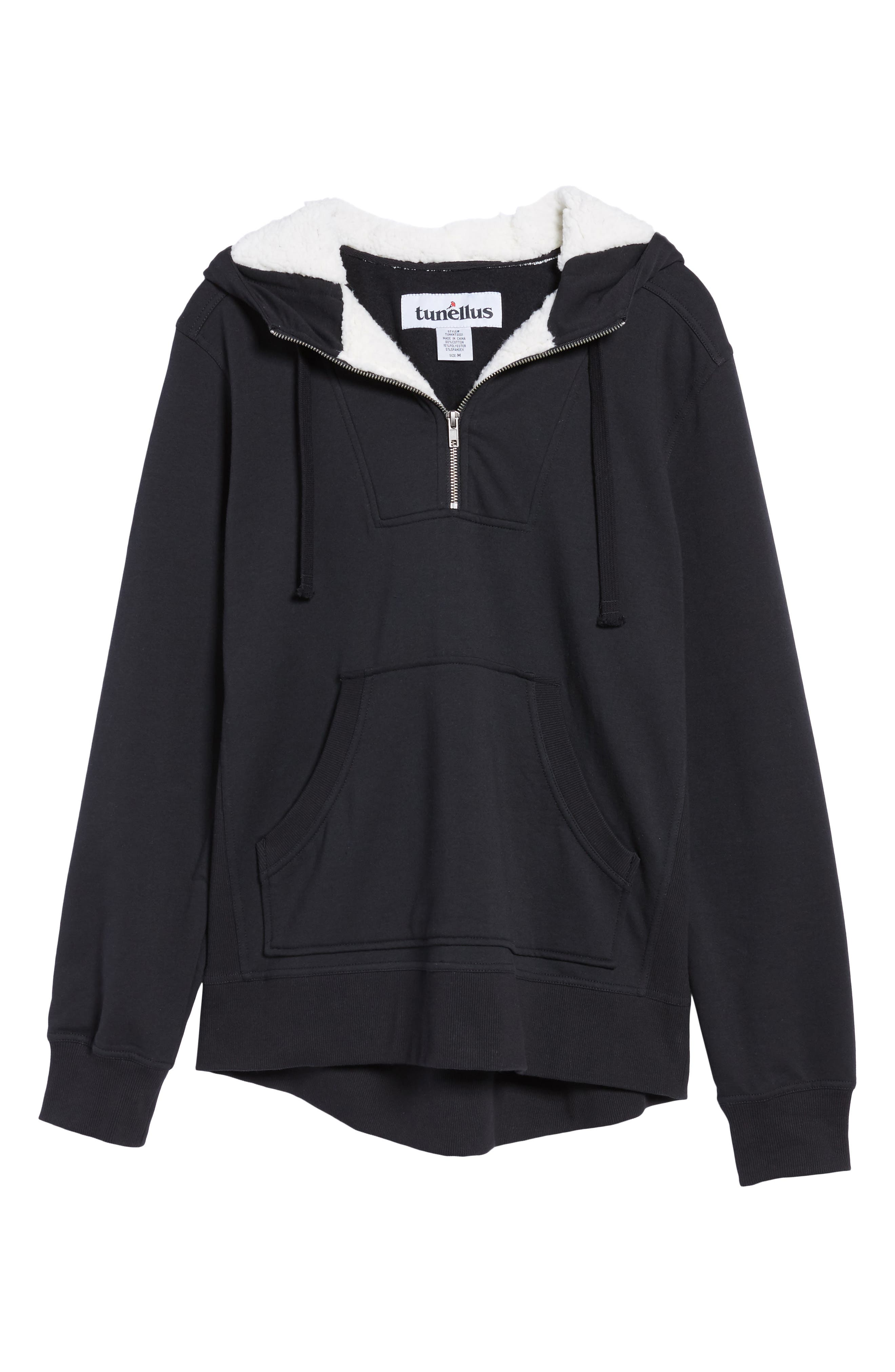 Fleece Lined Hoodie,                             Alternate thumbnail 6, color,                             001
