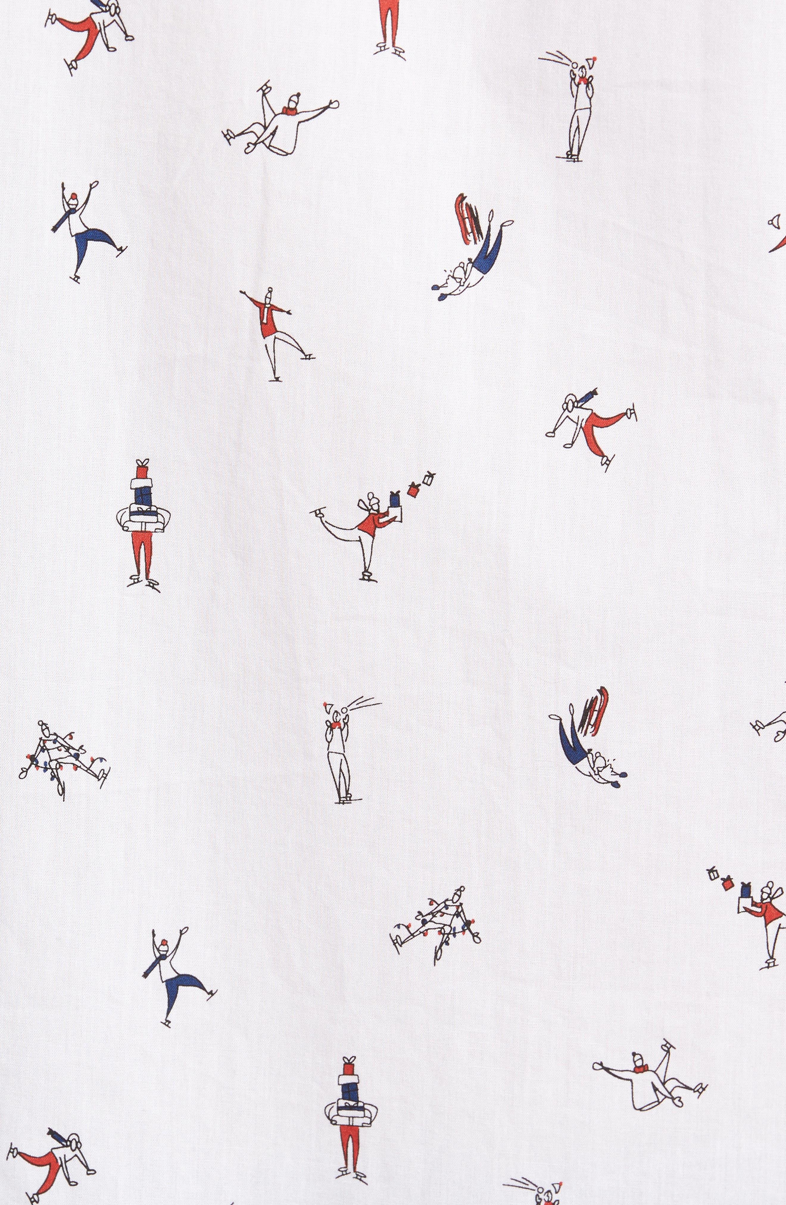 Clumsy Skaters Poplin Shirt,                             Alternate thumbnail 5, color,