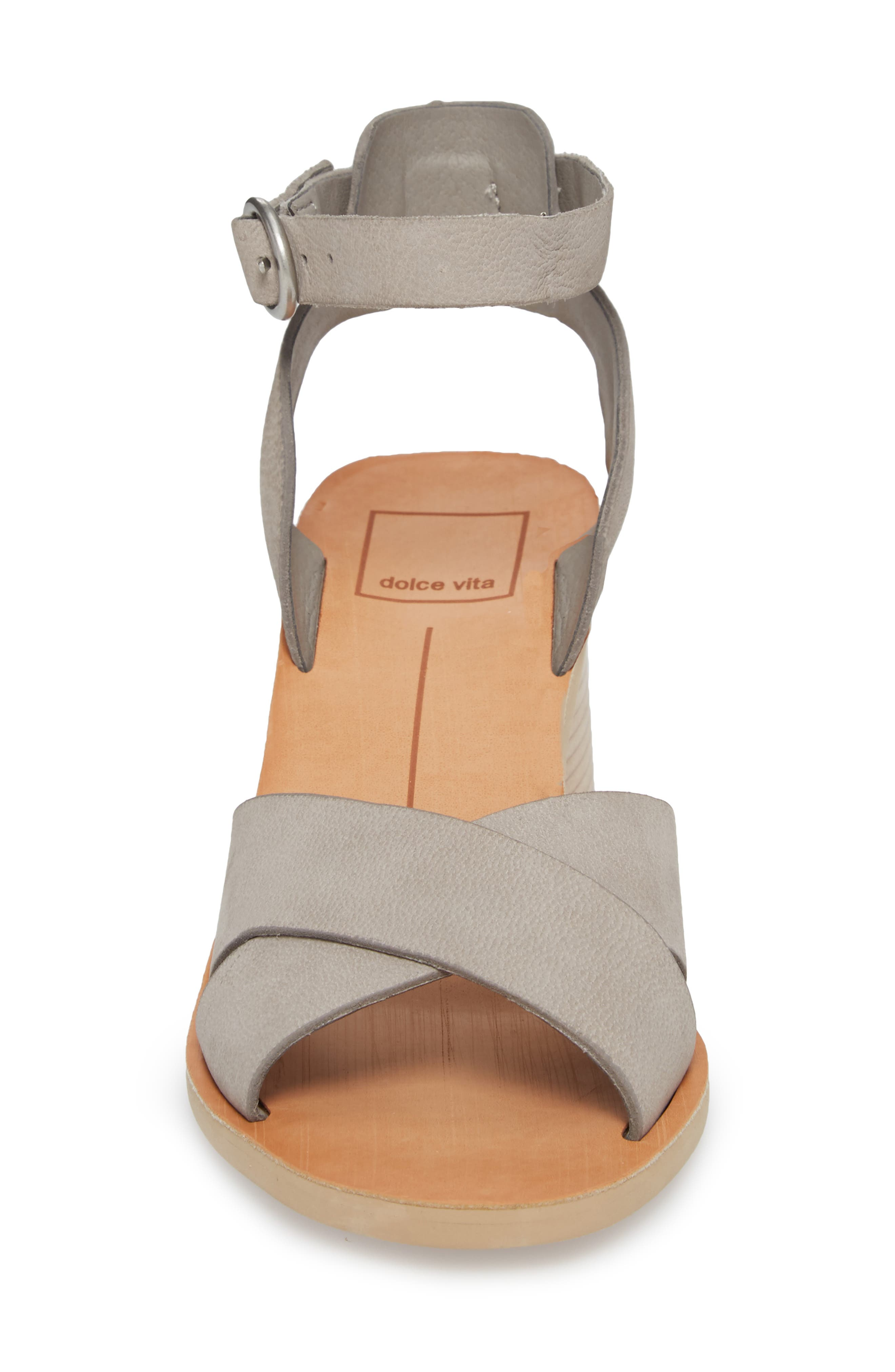 Roman Flared Heel Sandal,                             Alternate thumbnail 4, color,                             020
