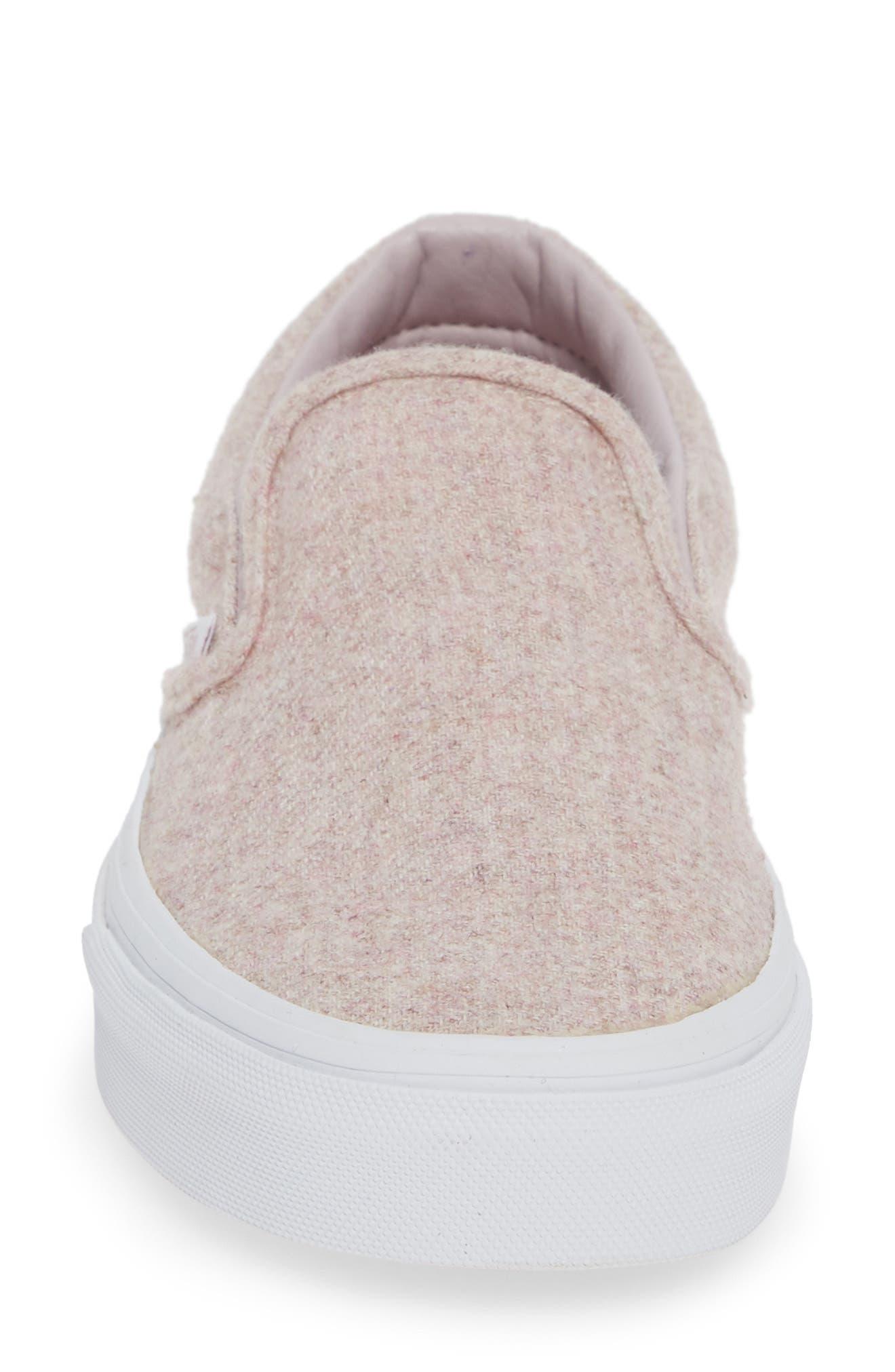 Classic Slip-On Sneaker,                             Alternate thumbnail 4, color,                             VIOLET ICE/ TRUE WHITE