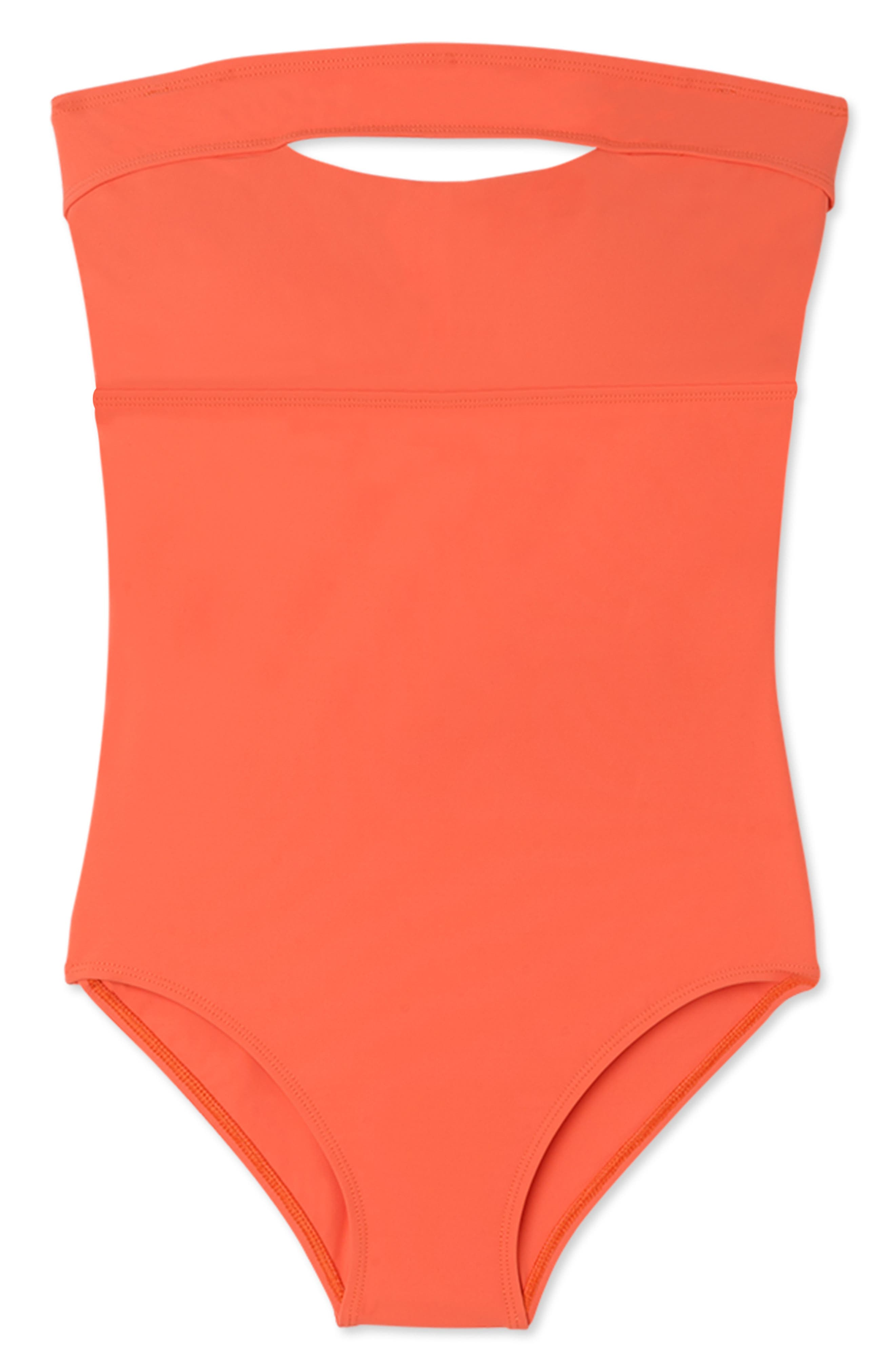 FLAGPOLE Gemma Underwire One-Piece Swimsuit in Papaya