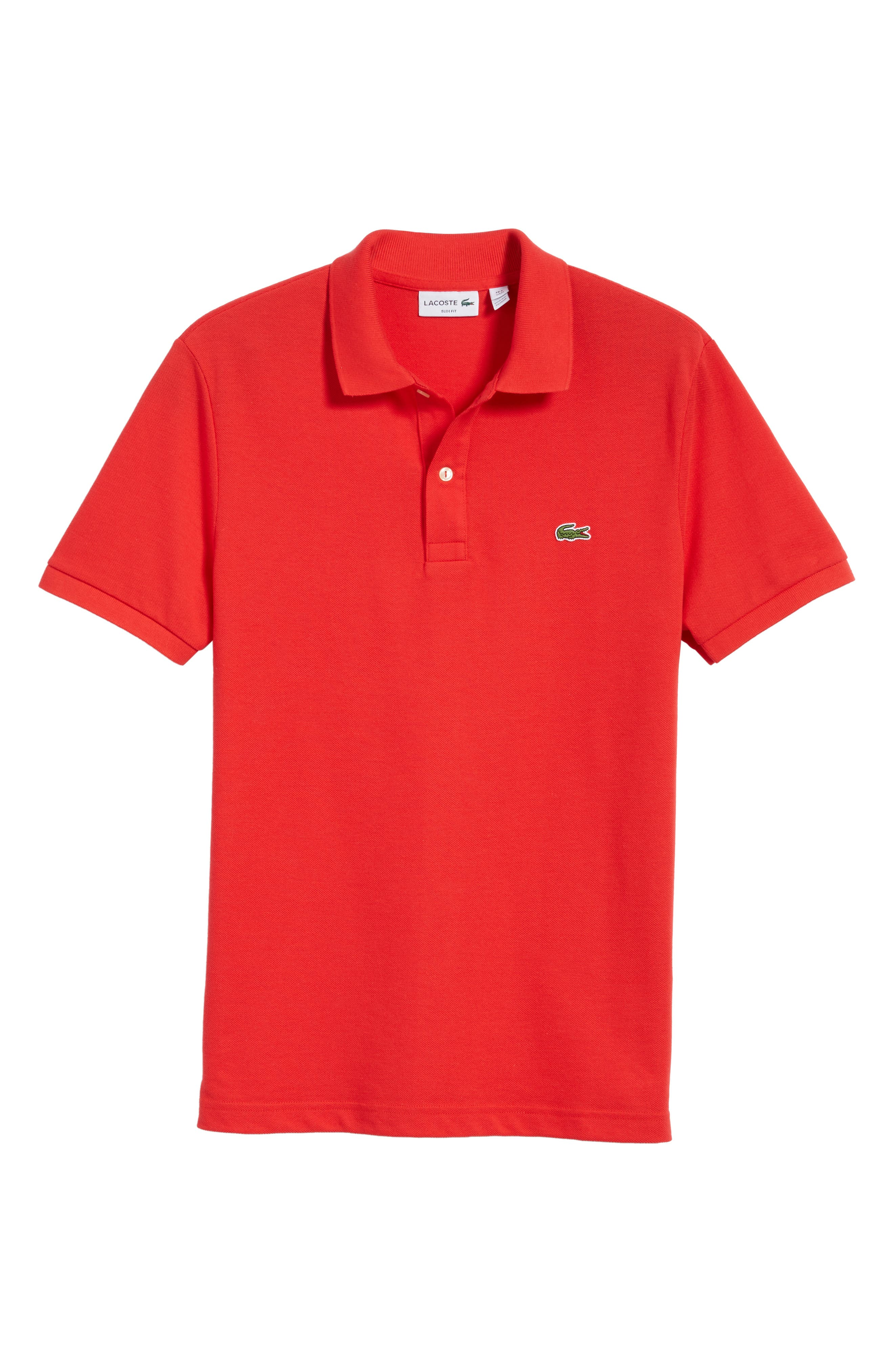 Slim Fit Piqué Polo,                             Alternate thumbnail 65, color,