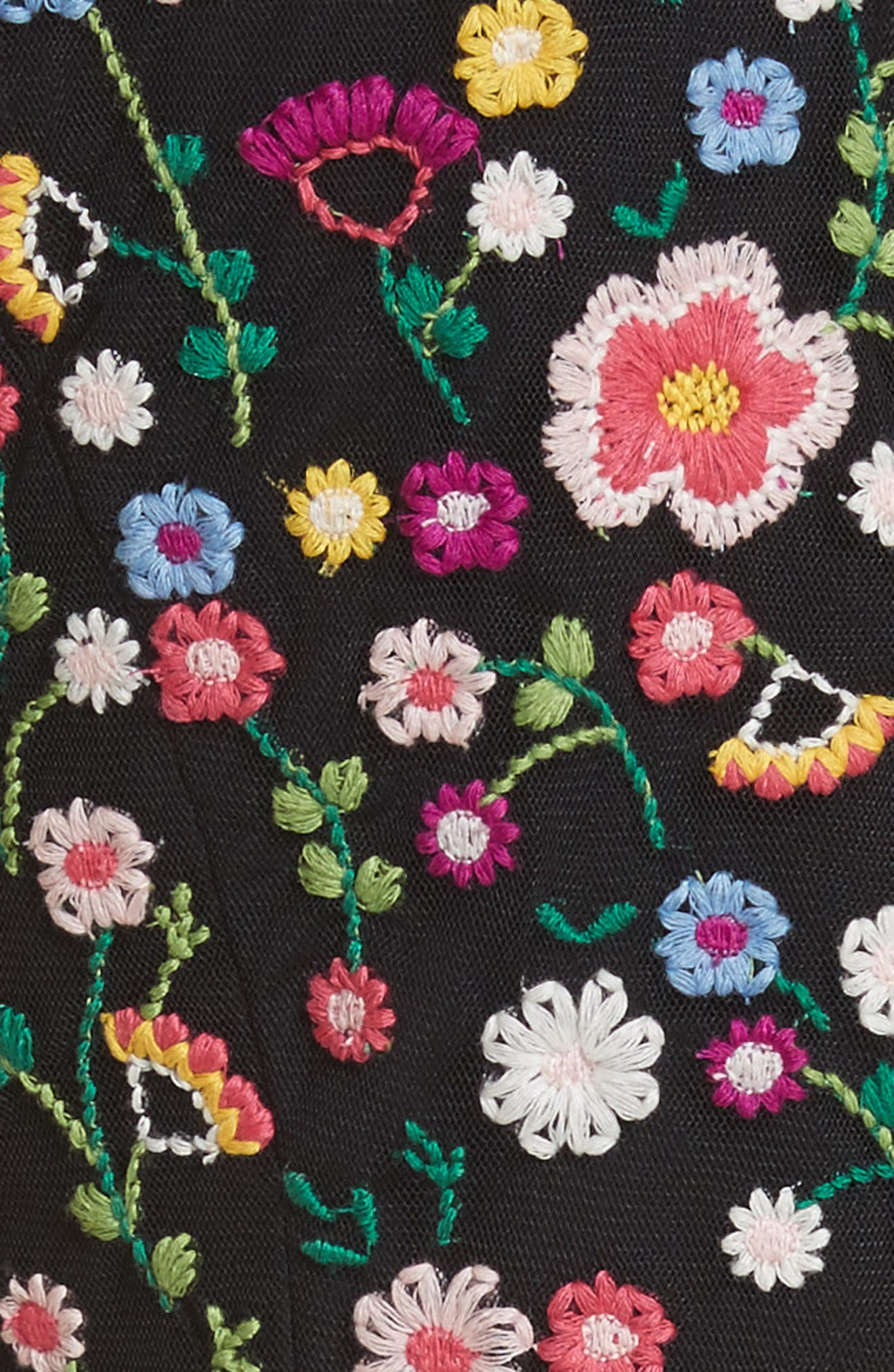Lazy Daisy Fit & Flare Dress,                             Alternate thumbnail 5, color,                             001