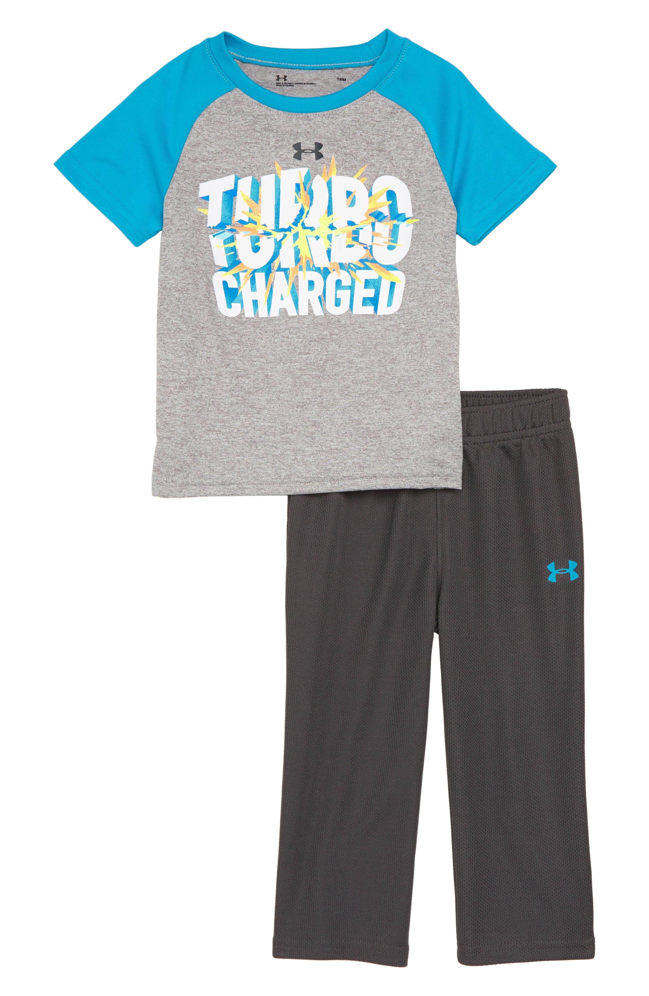 Infant Boys Under Armour Turbo Charged Graphic Shirt  Sweatpants Set