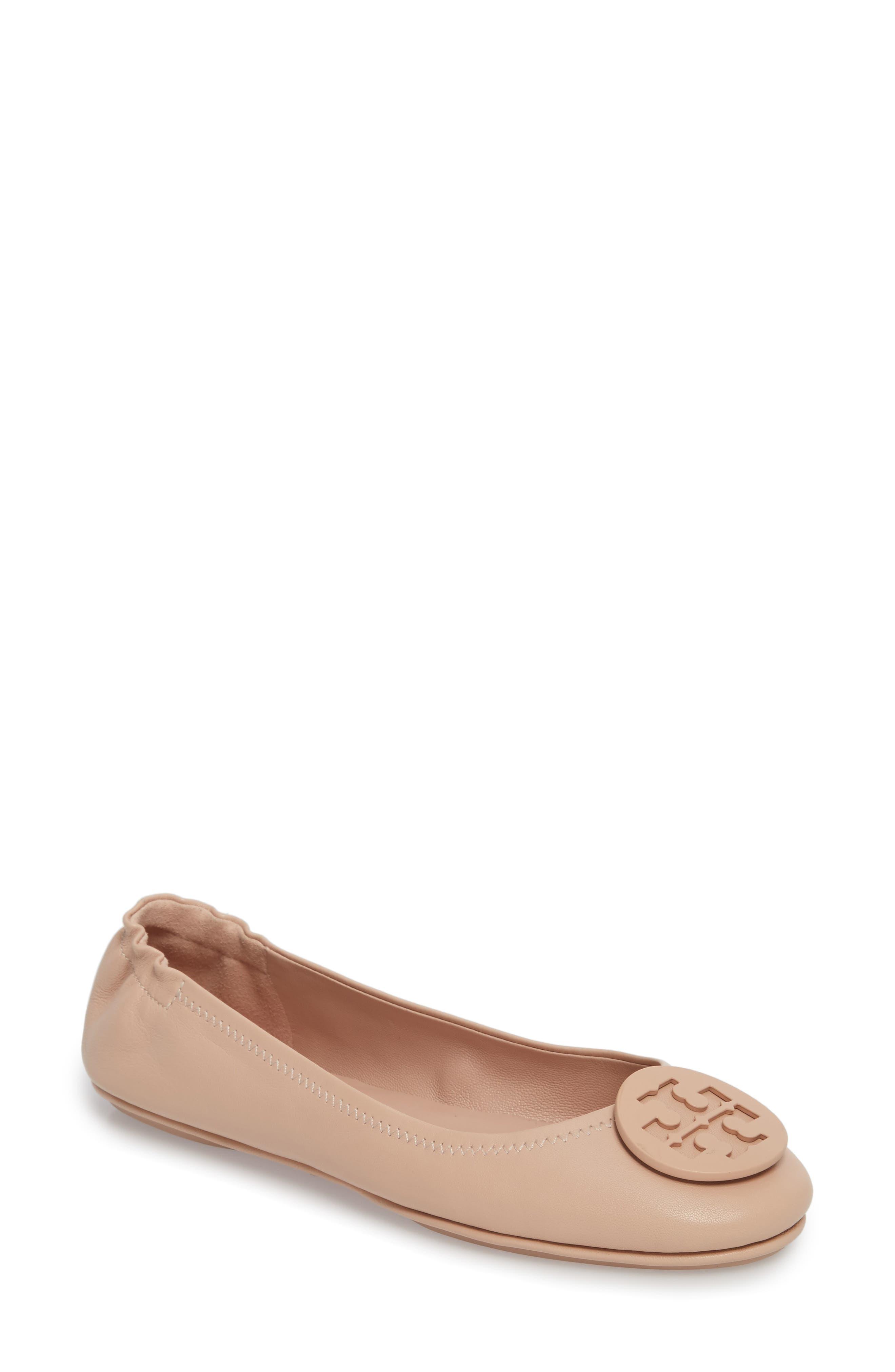 Women'S Minnie Leather Travel Ballet Flats in Goan Sand