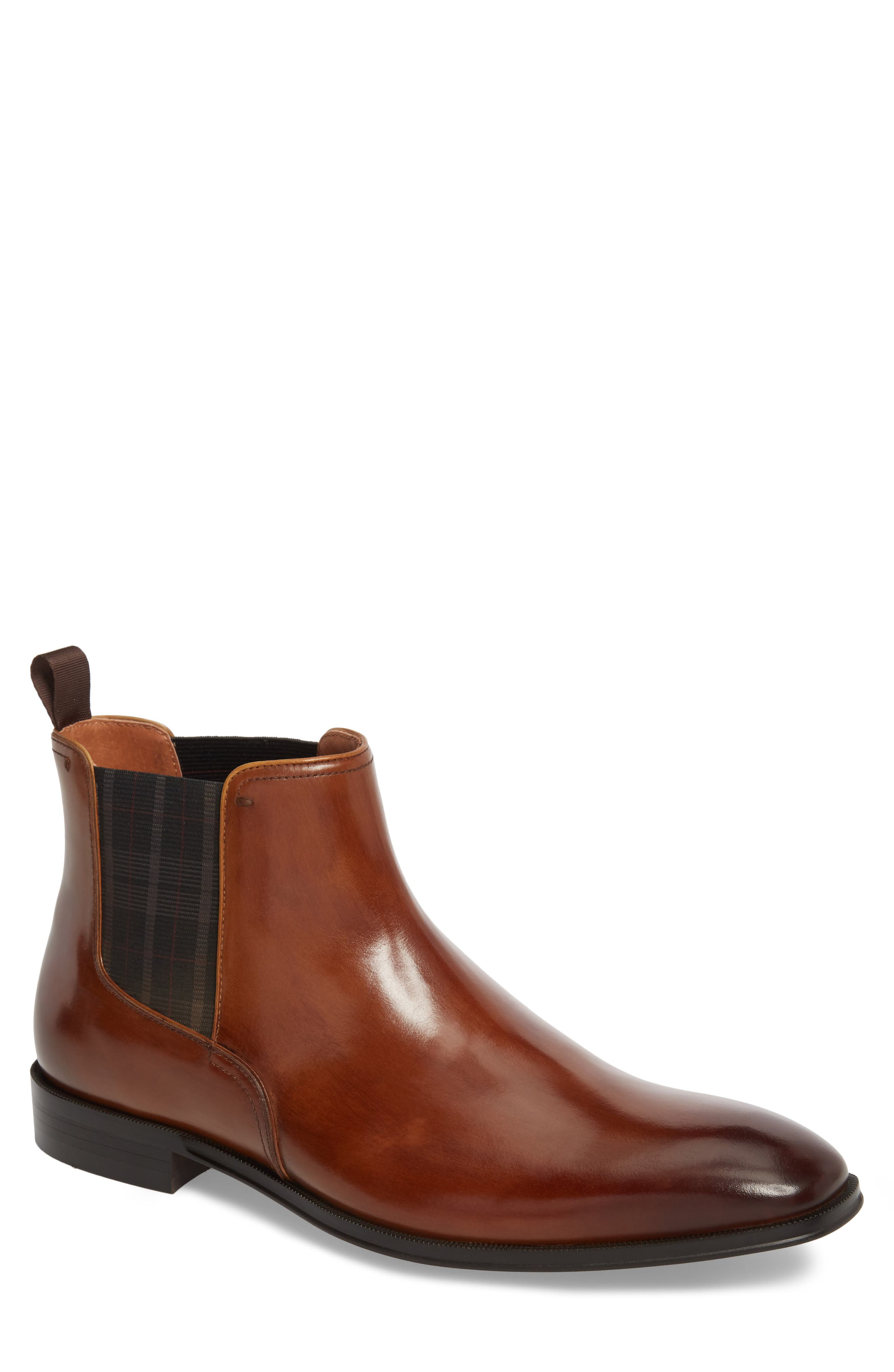 Belfast Chelsea Boot,                             Main thumbnail 1, color,                             COGNAC LEATHER
