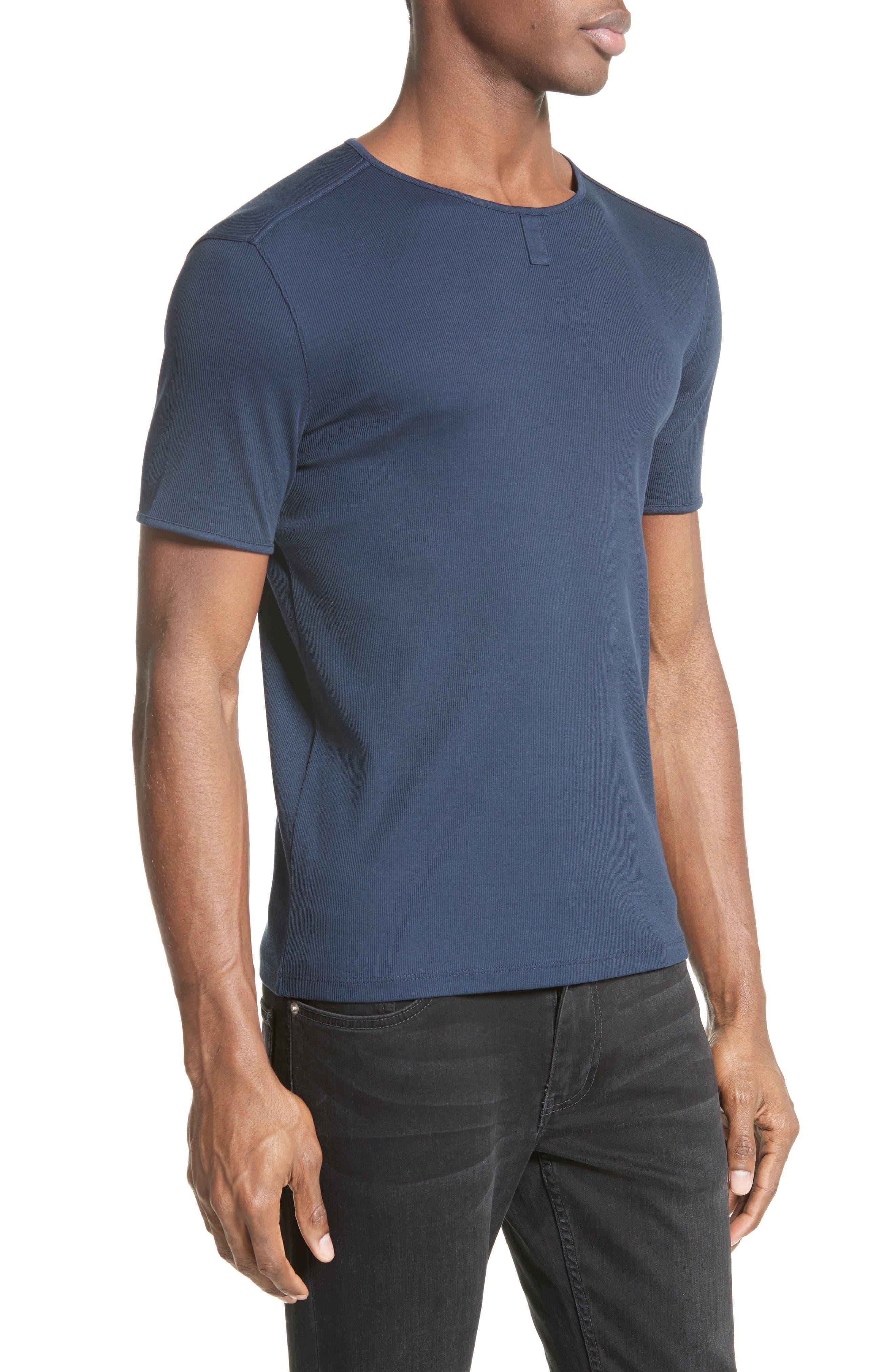 Ribbed Crewneck T-Shirt,                             Alternate thumbnail 4, color,                             405