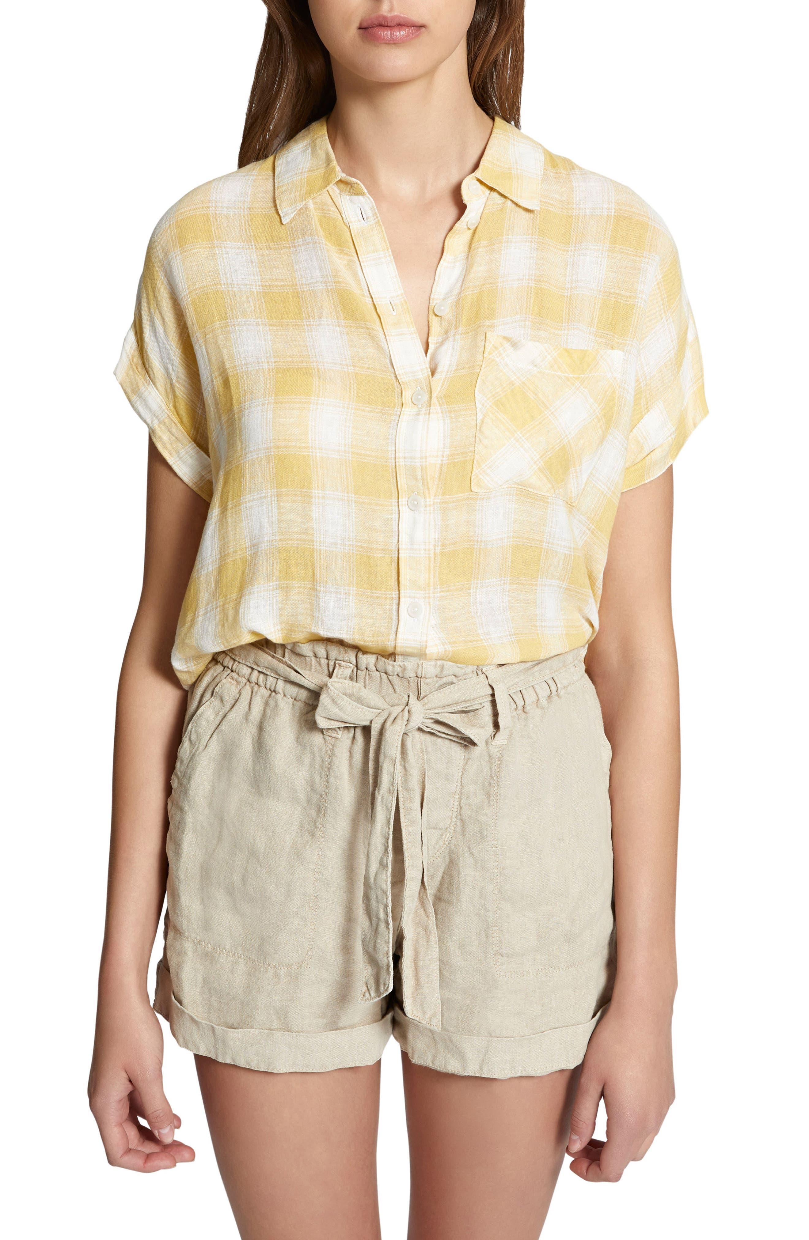 Mod Short Sleeve Boyfriend Shirt,                             Main thumbnail 5, color,