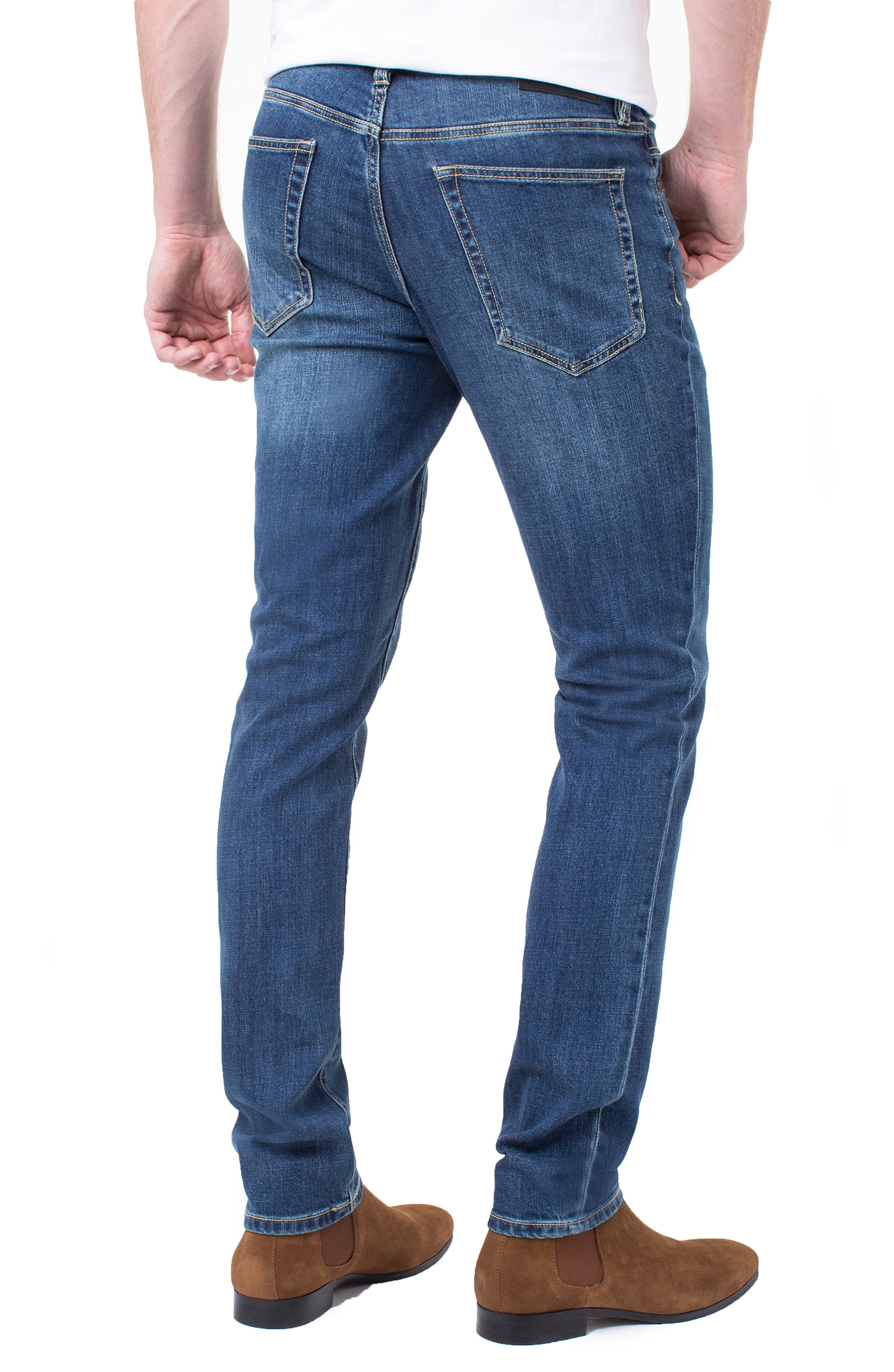 Kingston Slim Straight Leg Jeans,                             Alternate thumbnail 2, color,                             MARINA DARK