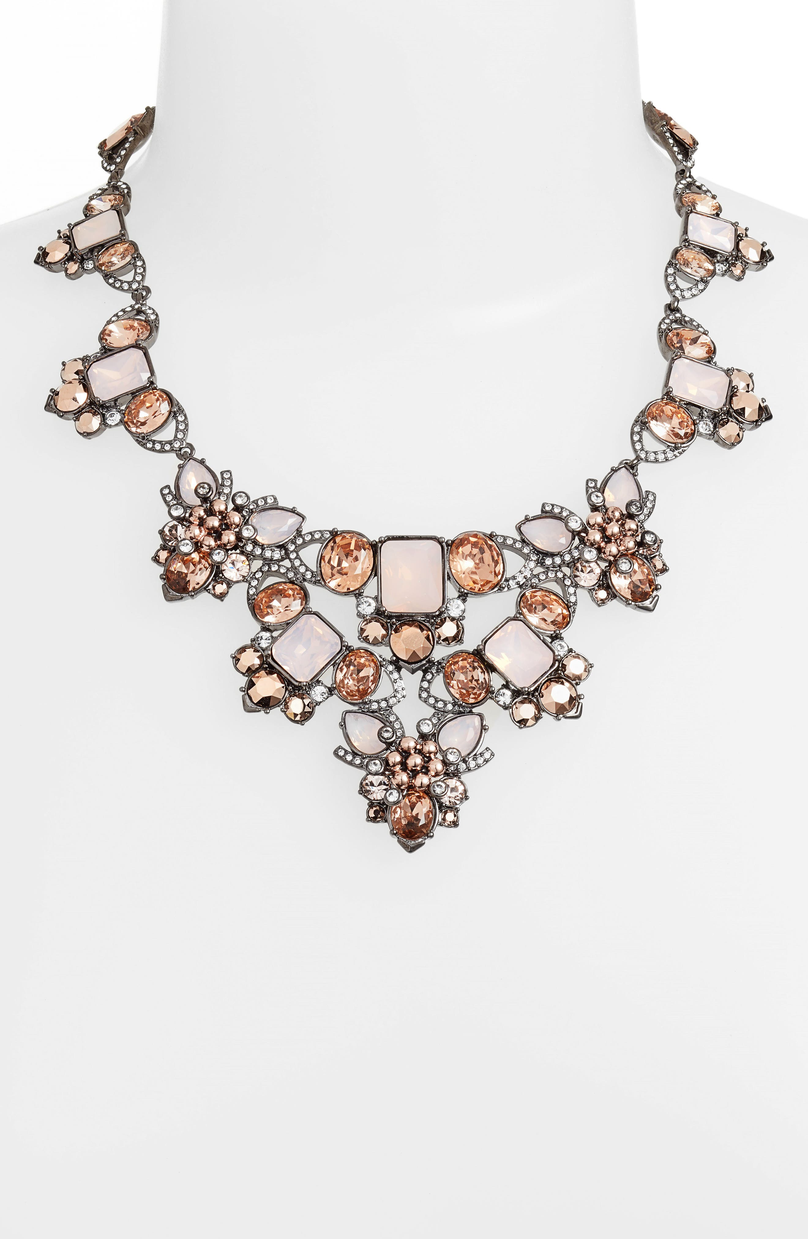 Crystal Drama Collar Necklace,                             Alternate thumbnail 2, color,                             650
