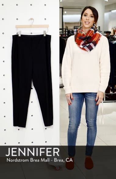 High Rise Ankle Skinny Ponte Pants, sales video thumbnail