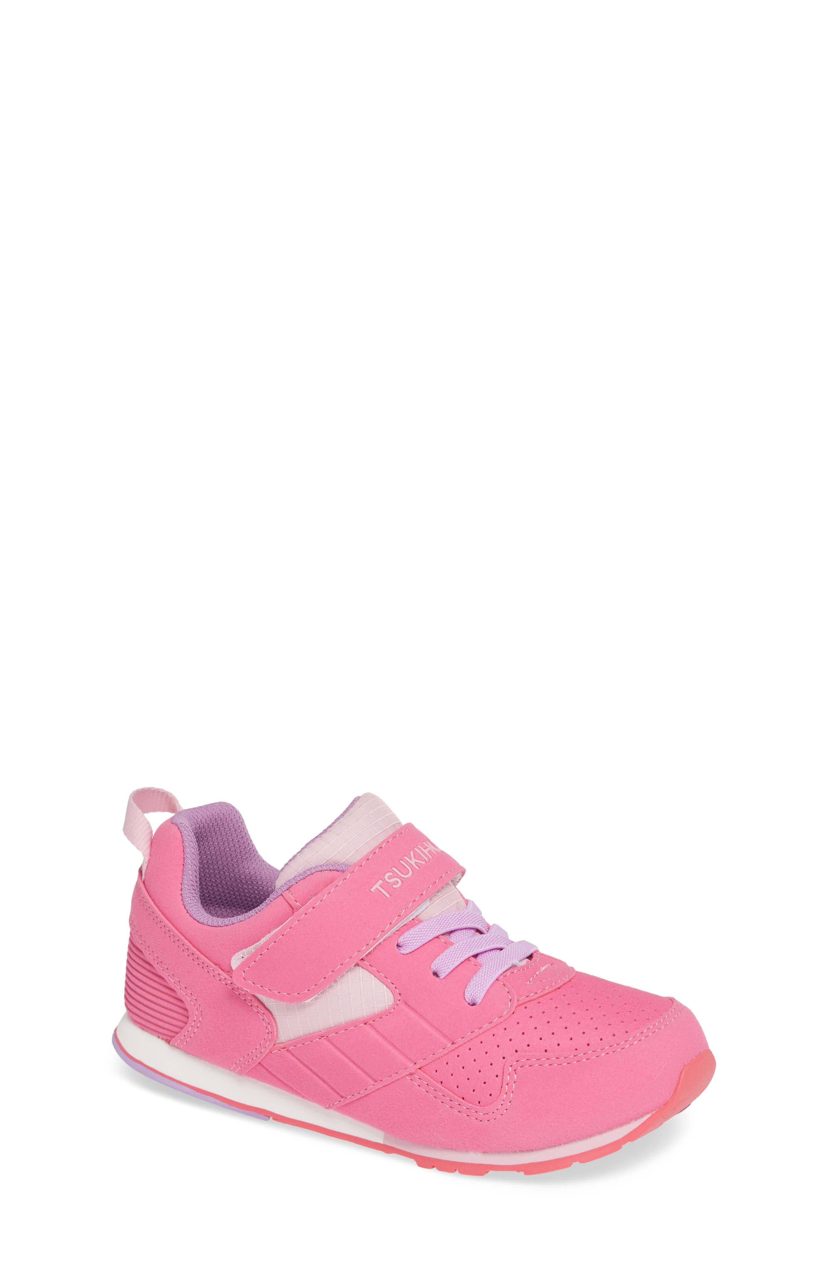 Racer Washable Sneaker,                         Main,                         color, FUCHSIA/ PINK