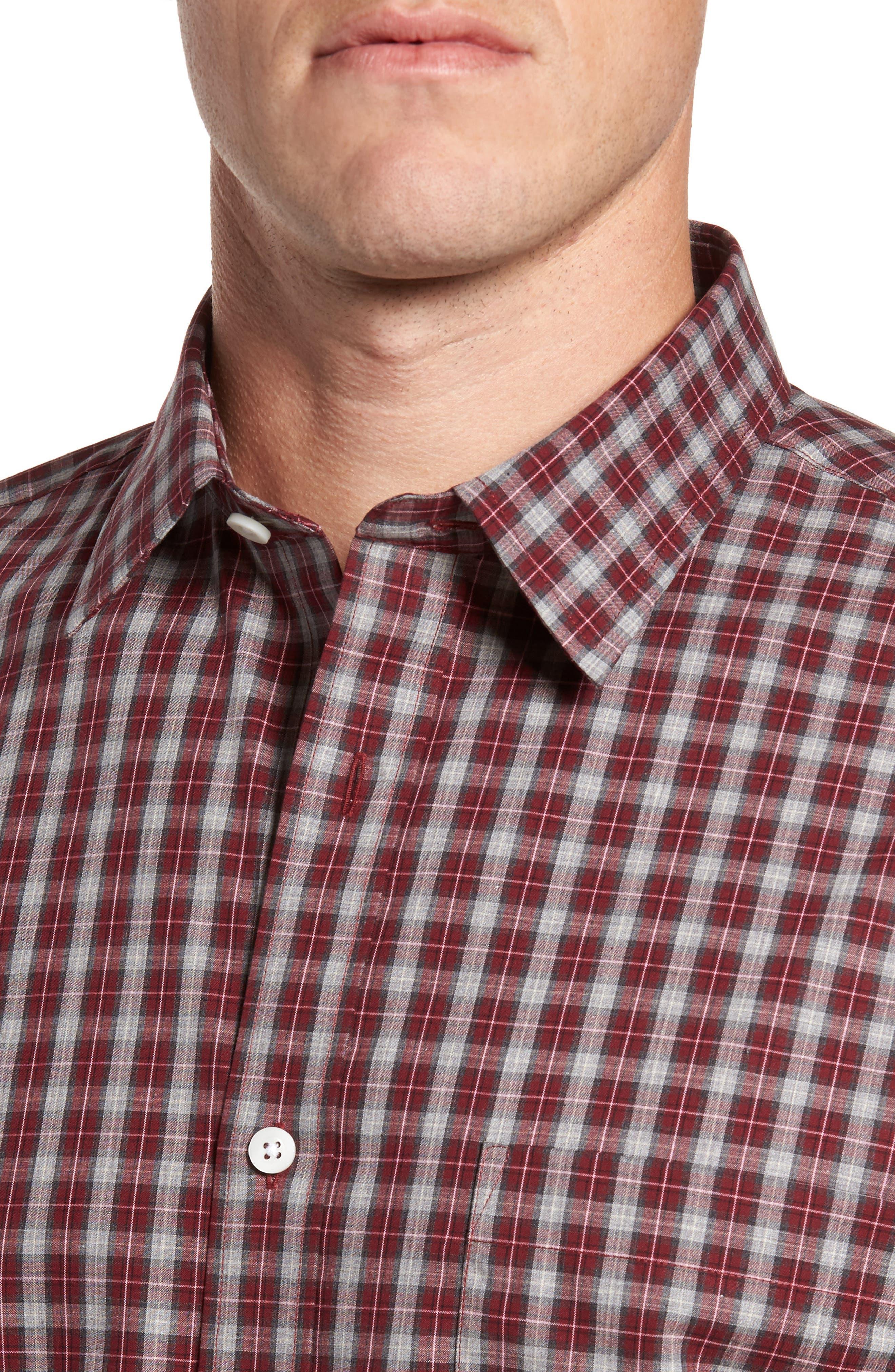 Regular Fit Non-Iron Check Sport Shirt,                             Alternate thumbnail 4, color,                             610