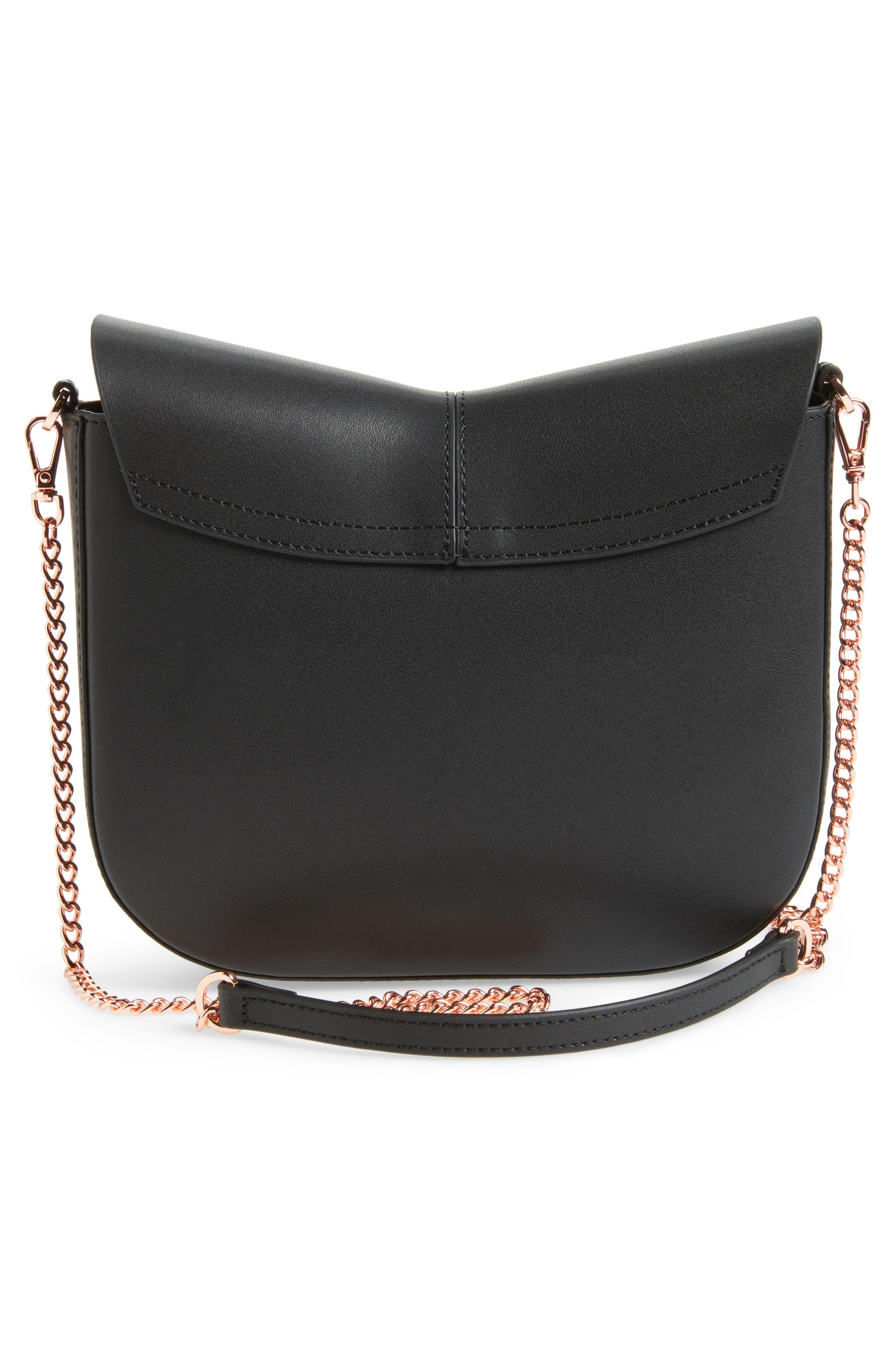 Chriiss Cat Stud Leather Crossbody Bag,                             Alternate thumbnail 7, color,