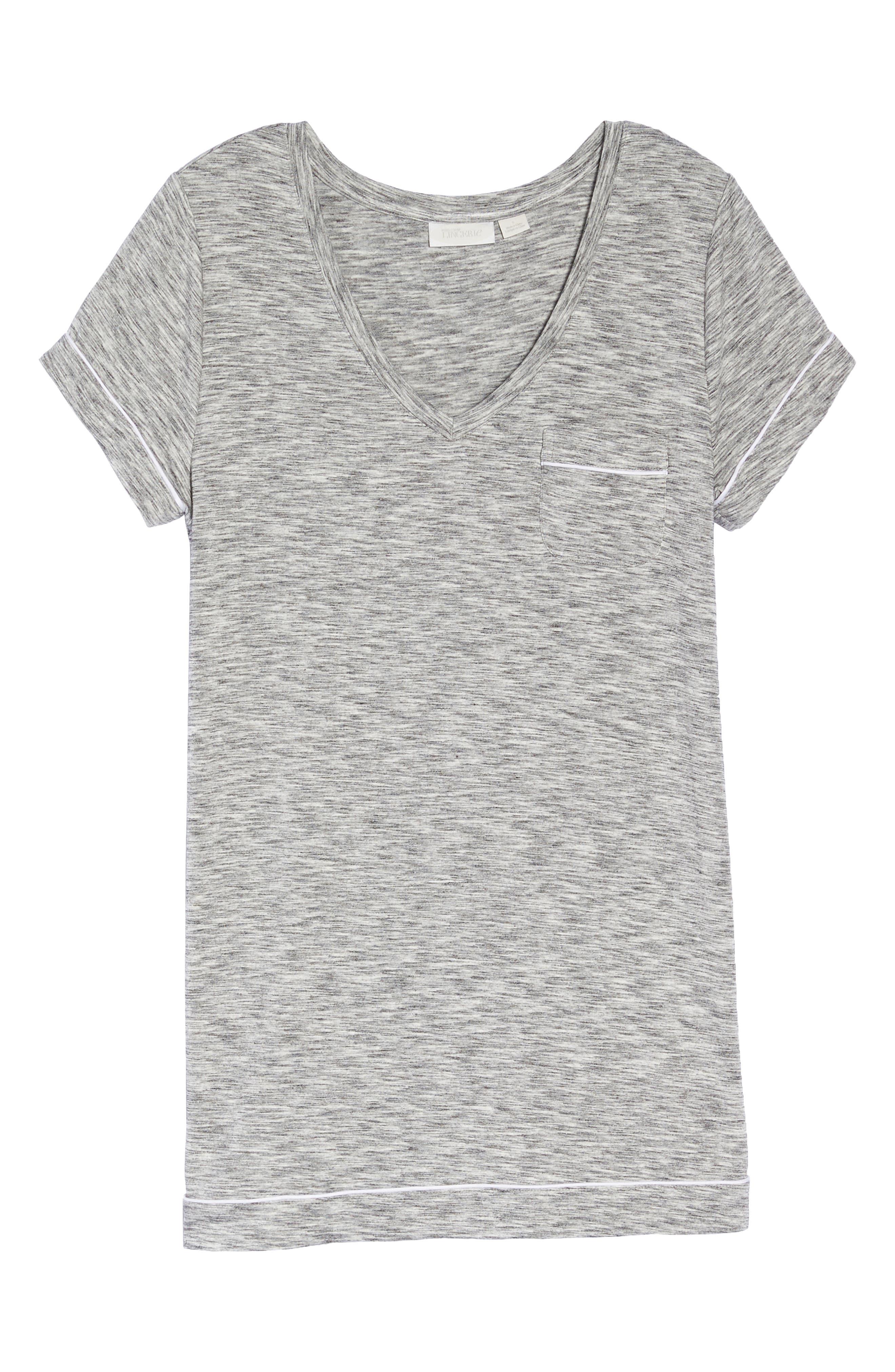 Moonlight Sleep Shirt,                             Alternate thumbnail 6, color,                             GREY SPACEDYE