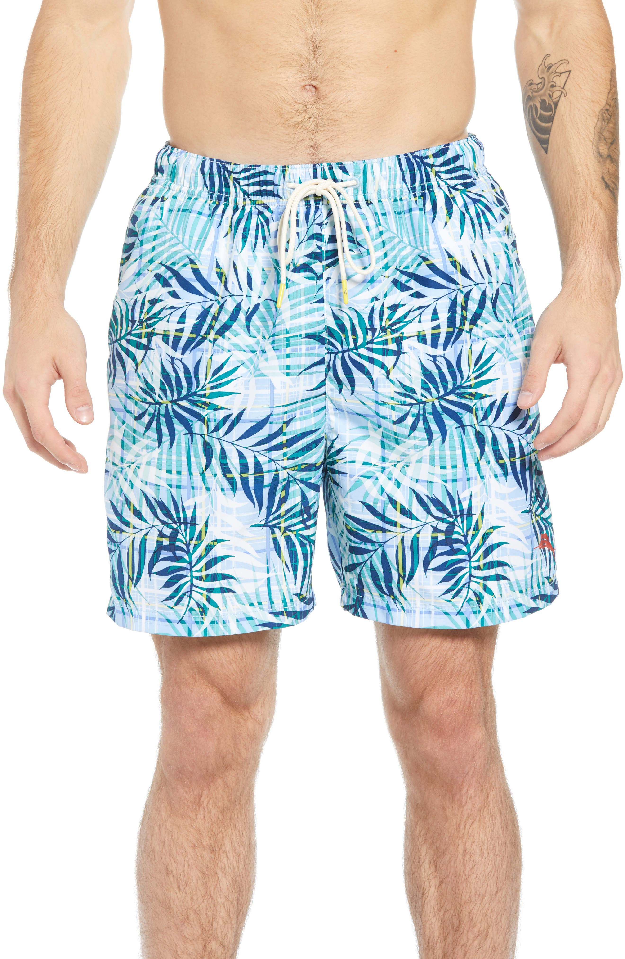 Naples Terraba Swim Trunks,                         Main,                         color, AQUA ICE