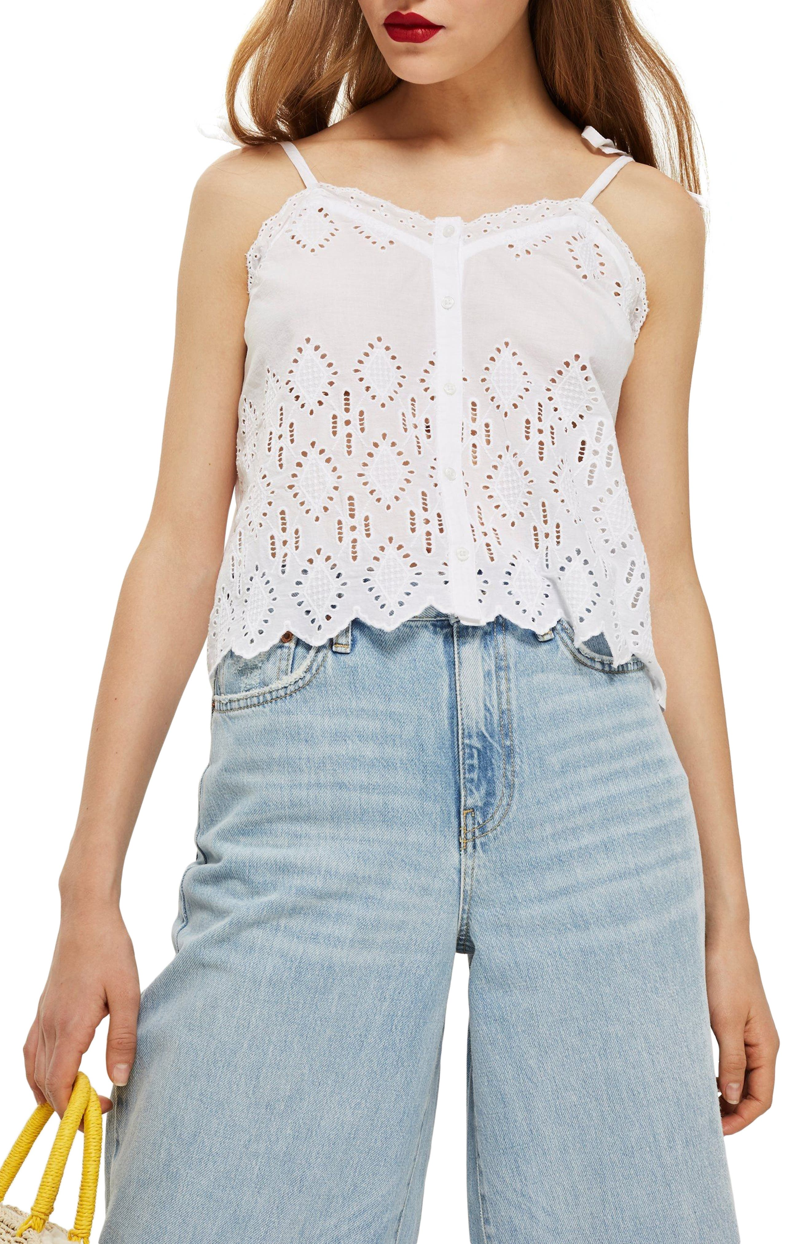 Broderie Camisole Top,                             Main thumbnail 2, color,