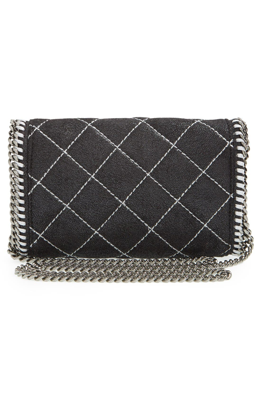 'Falabella' Quilted Faux Leather Crossbody Bag,                             Alternate thumbnail 10, color,