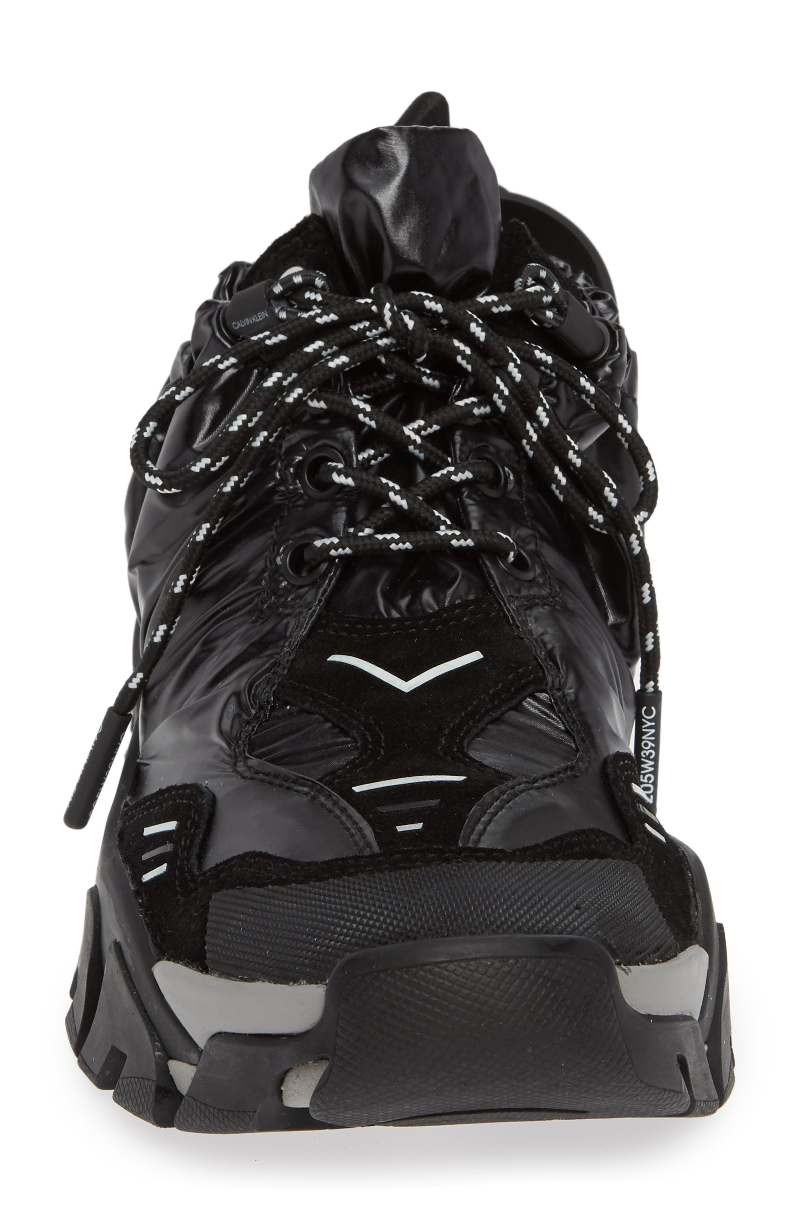 Carsdat 10 Elastic Sneaker,                             Alternate thumbnail 4, color,                             BLACK