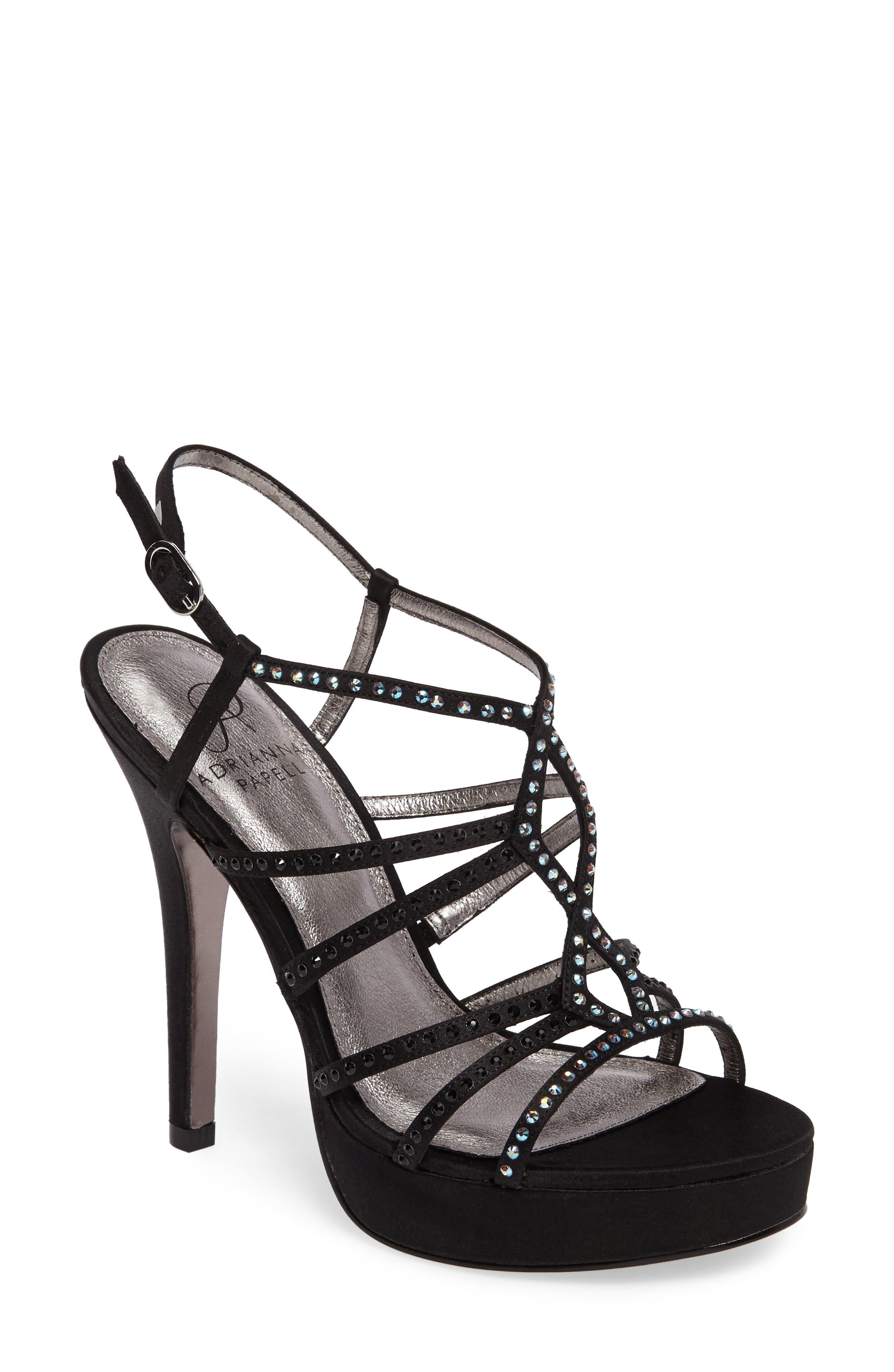 Miranda Embellished Platform Sandal,                         Main,                         color,