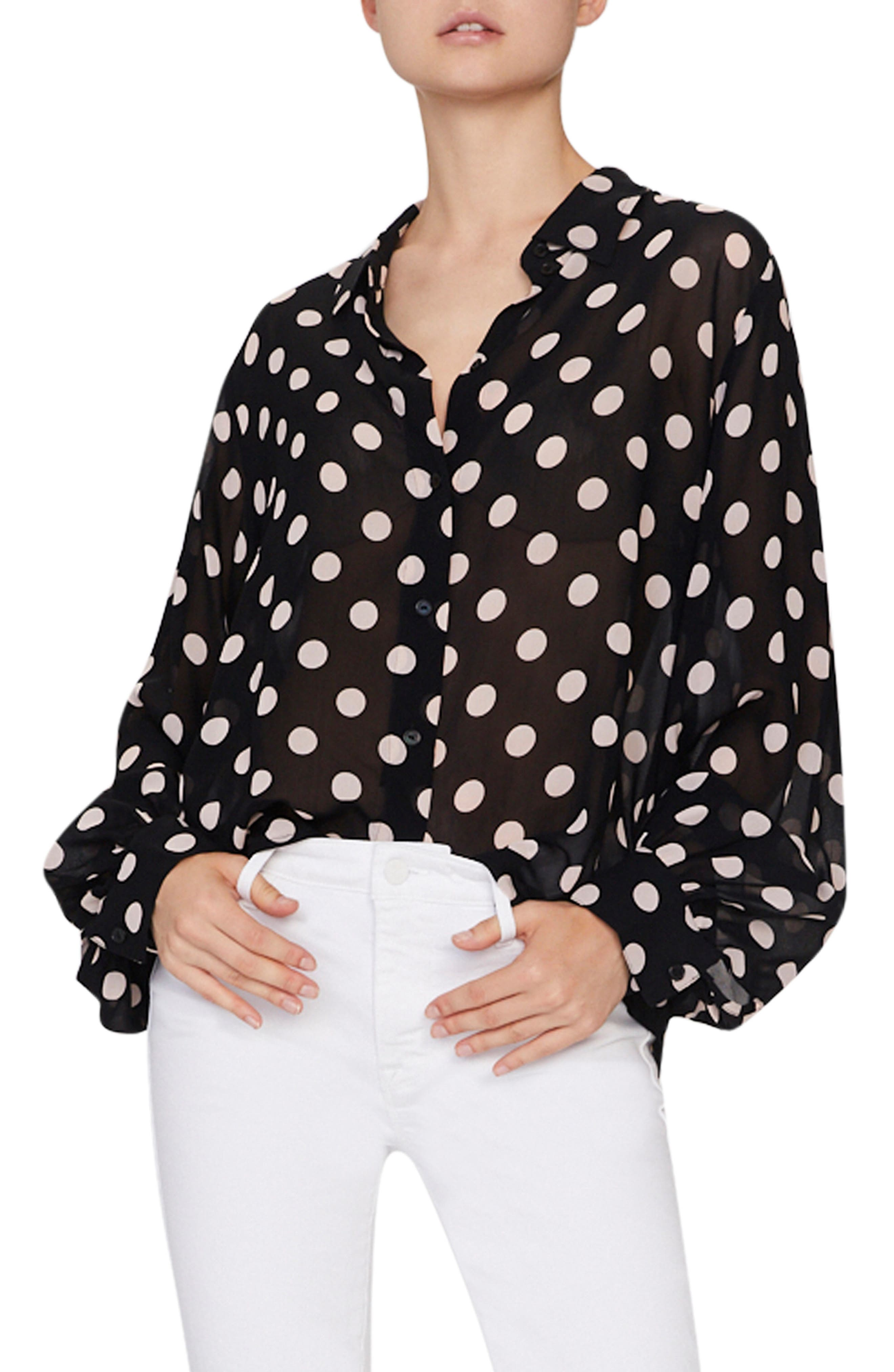 Sanctuary Tops SLONE BLOUSON SLEEVE POLKA DOT BLOUSE