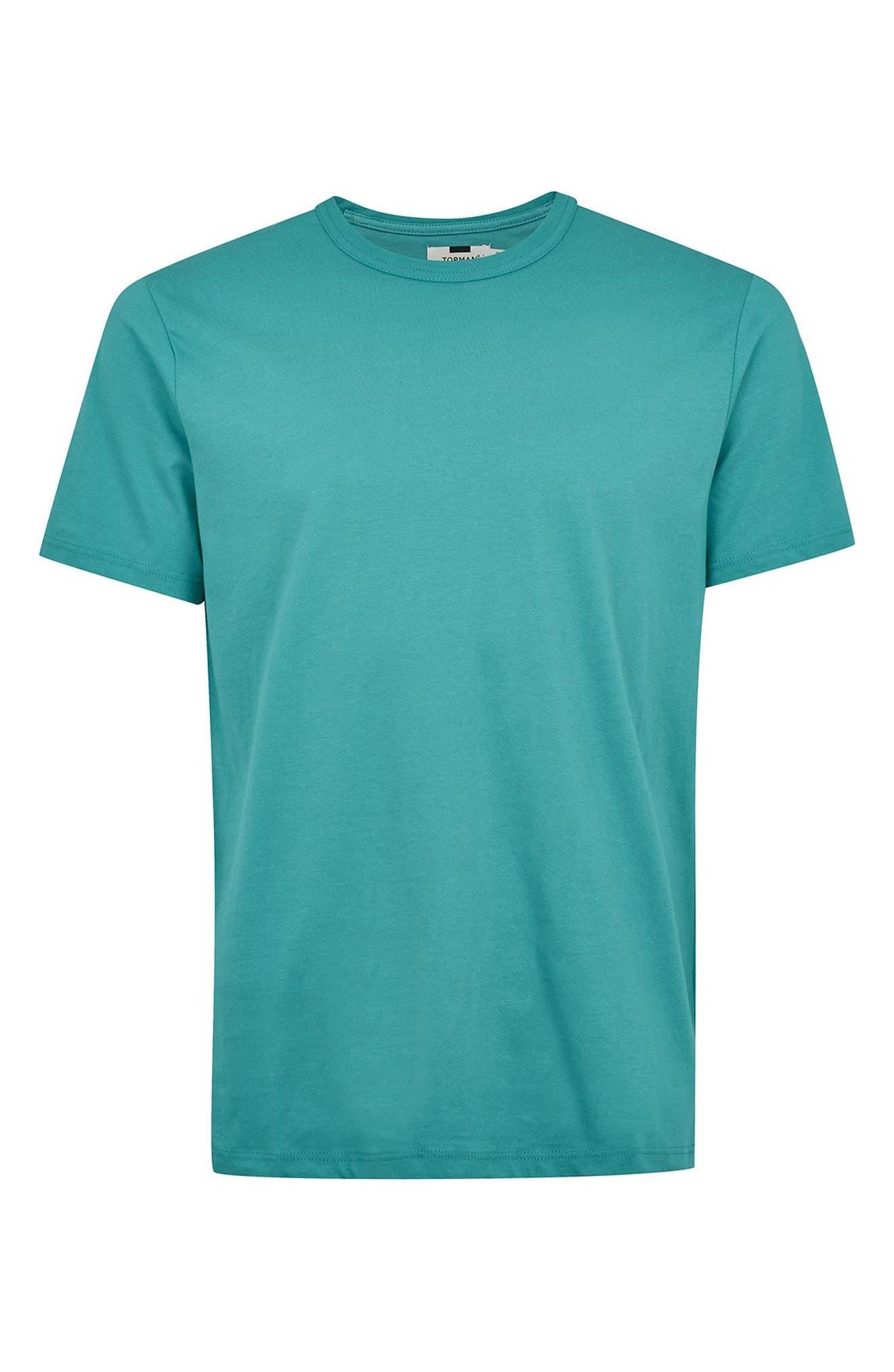 Classic Fit T-Shirt,                             Alternate thumbnail 4, color,                             AQUA