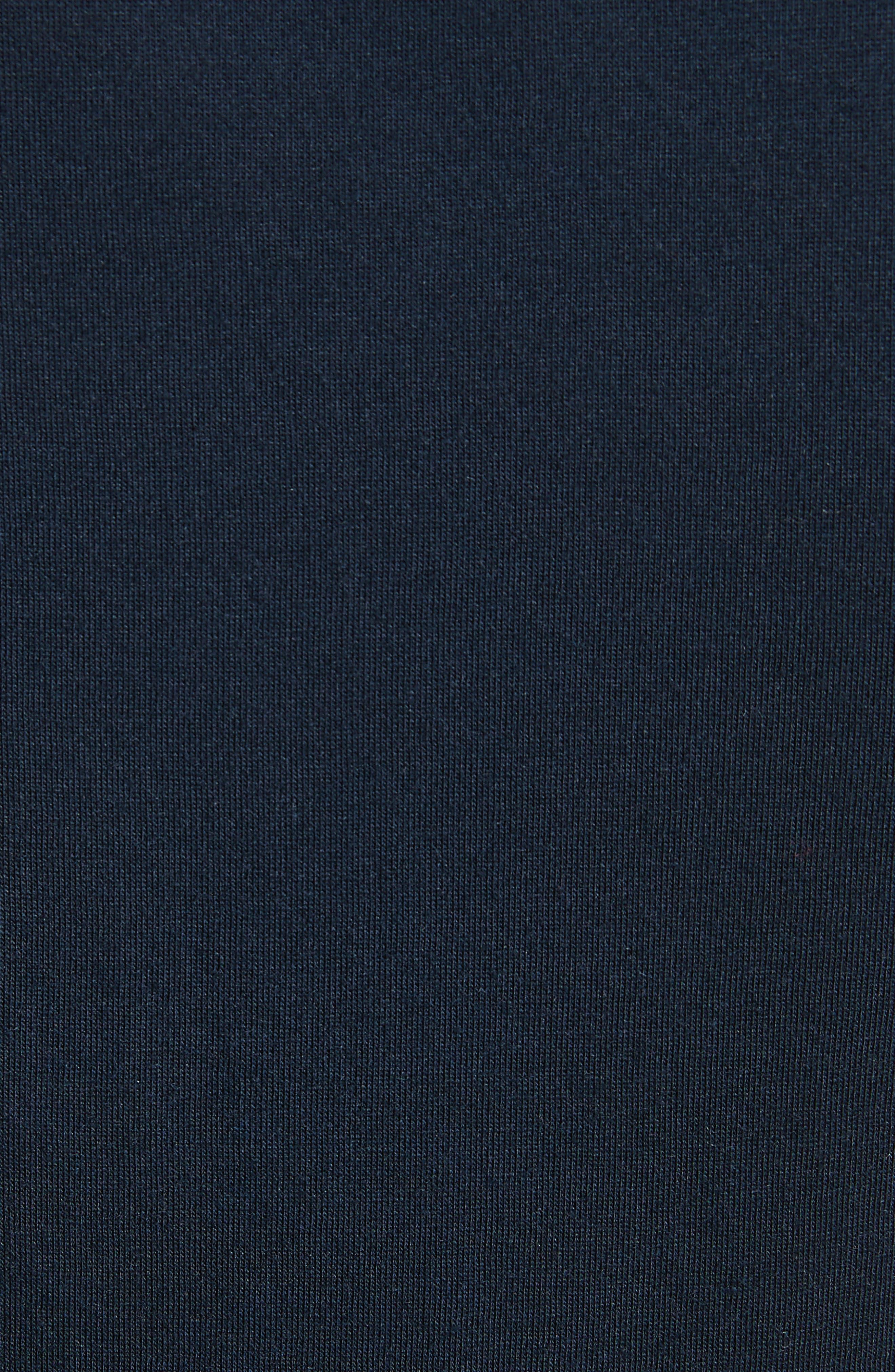 Plume Seamed Cotton Blend Jersey Dress,                             Alternate thumbnail 5, color,                             491