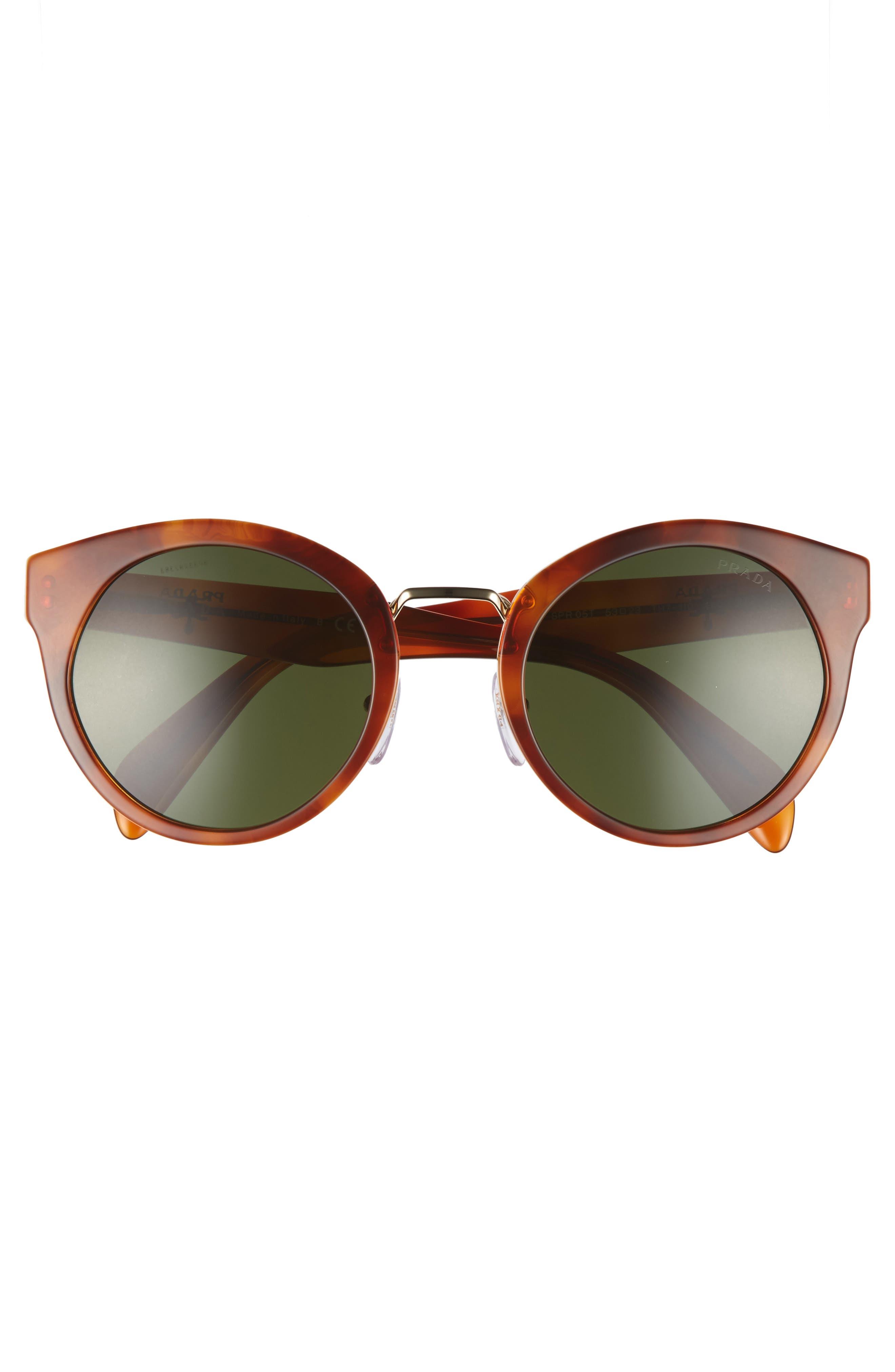 53mm Cat Eye Sunglasses,                             Alternate thumbnail 3, color,                             200