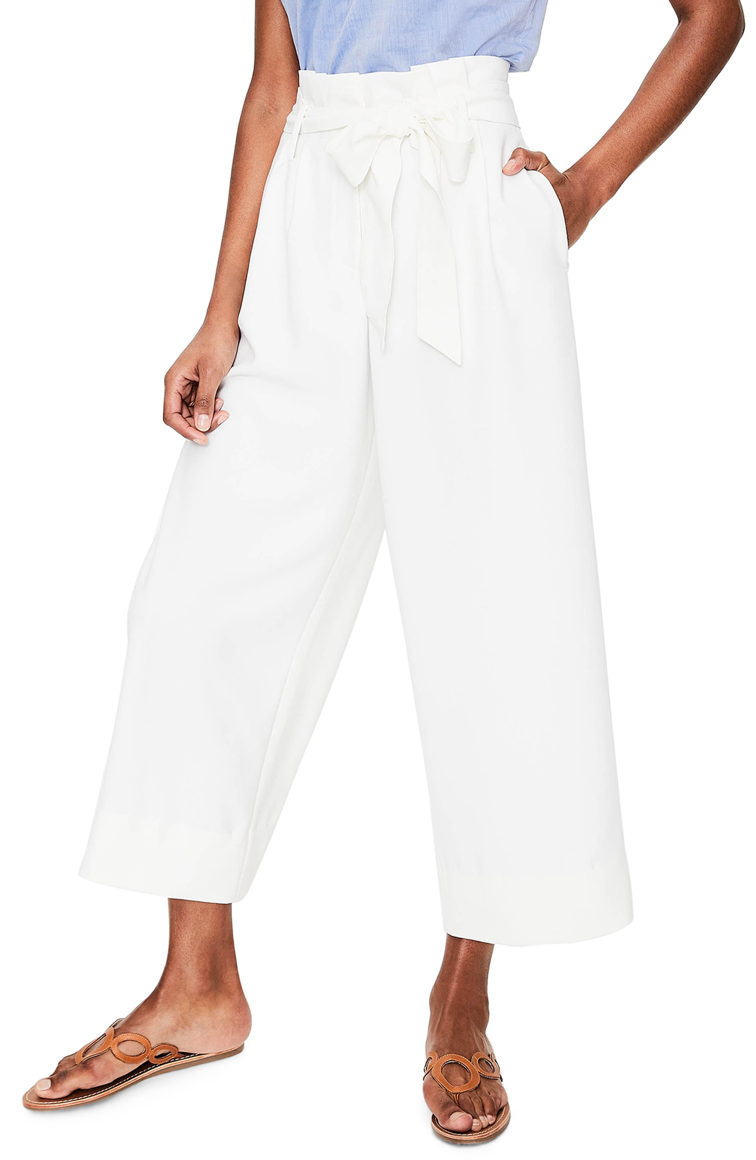 Paperbag Waist Wide Leg Pants,                         Main,                         color,