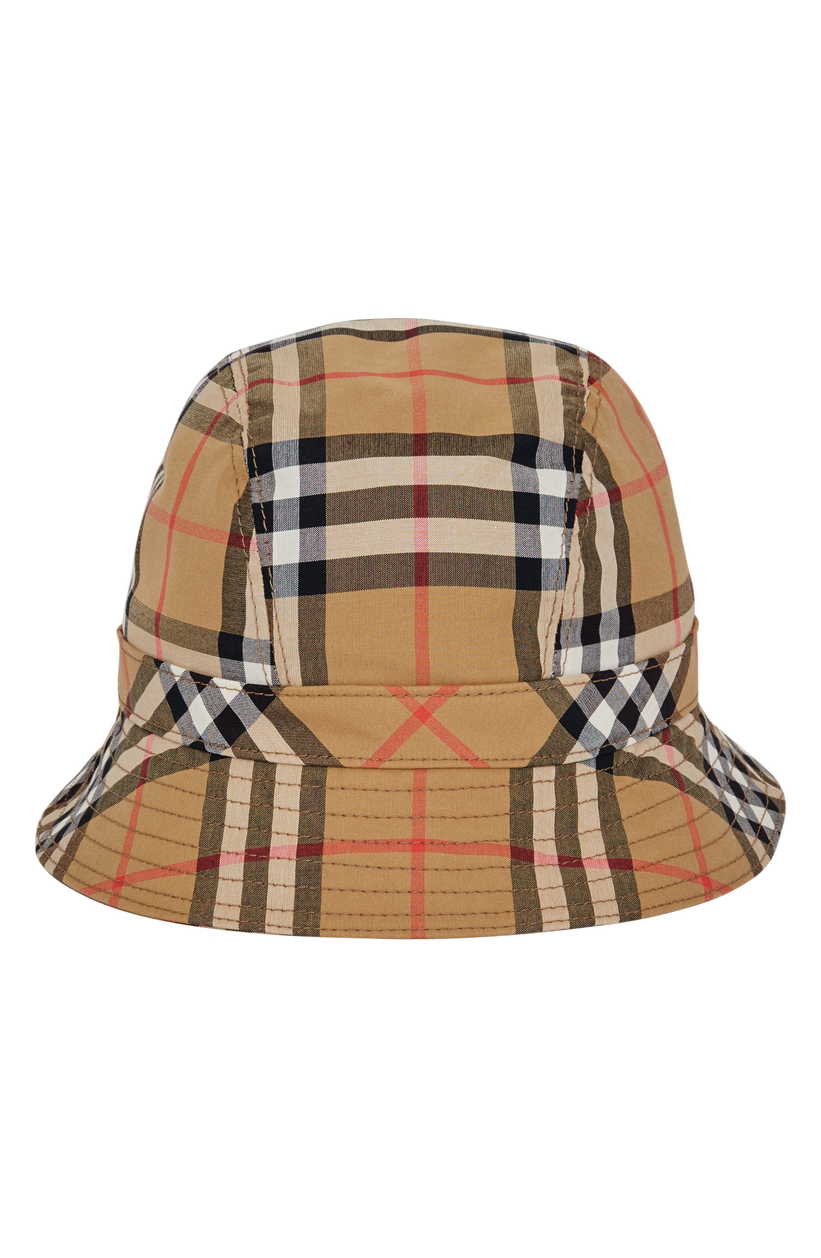 Rainbow Stripe Vintage Check Bucket Hat,                             Alternate thumbnail 2, color,                             ANTIQUE YELLOW/ RAINBOW