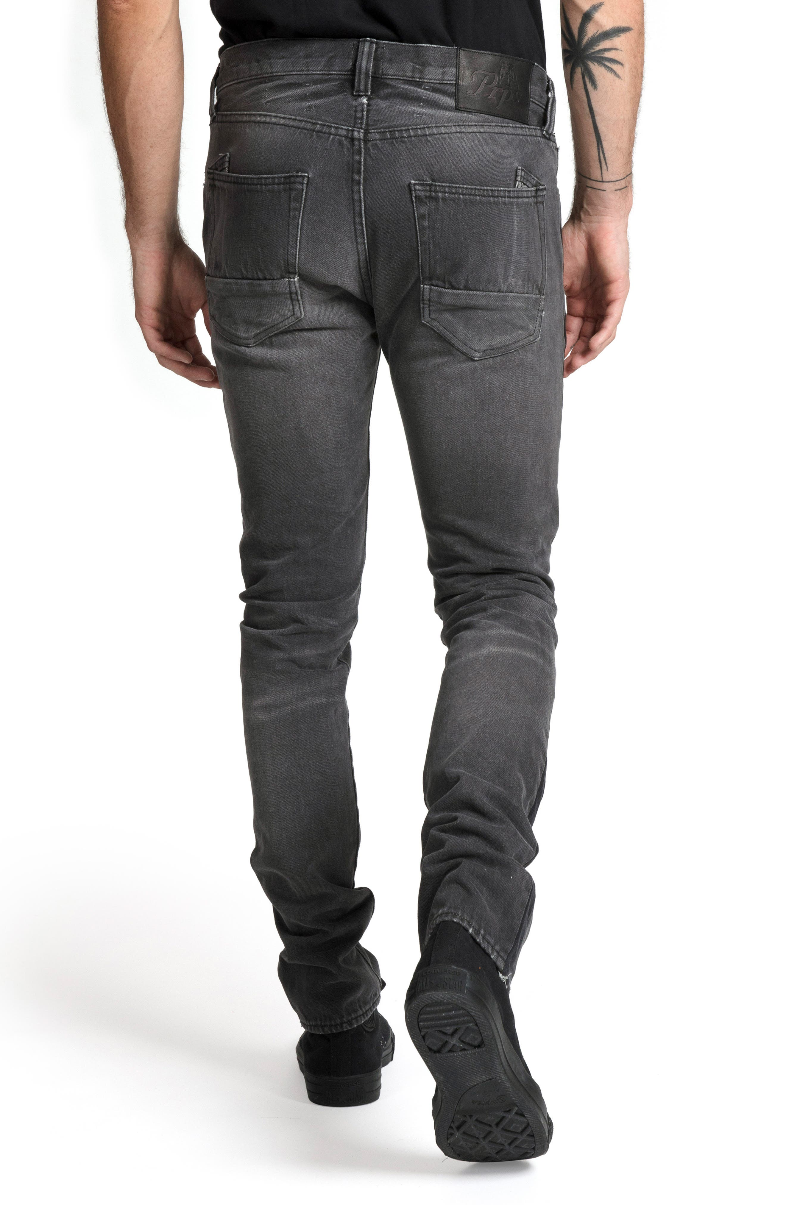 Le Sabre Slim Fit Jeans,                             Alternate thumbnail 2, color,                             ABHORRENT