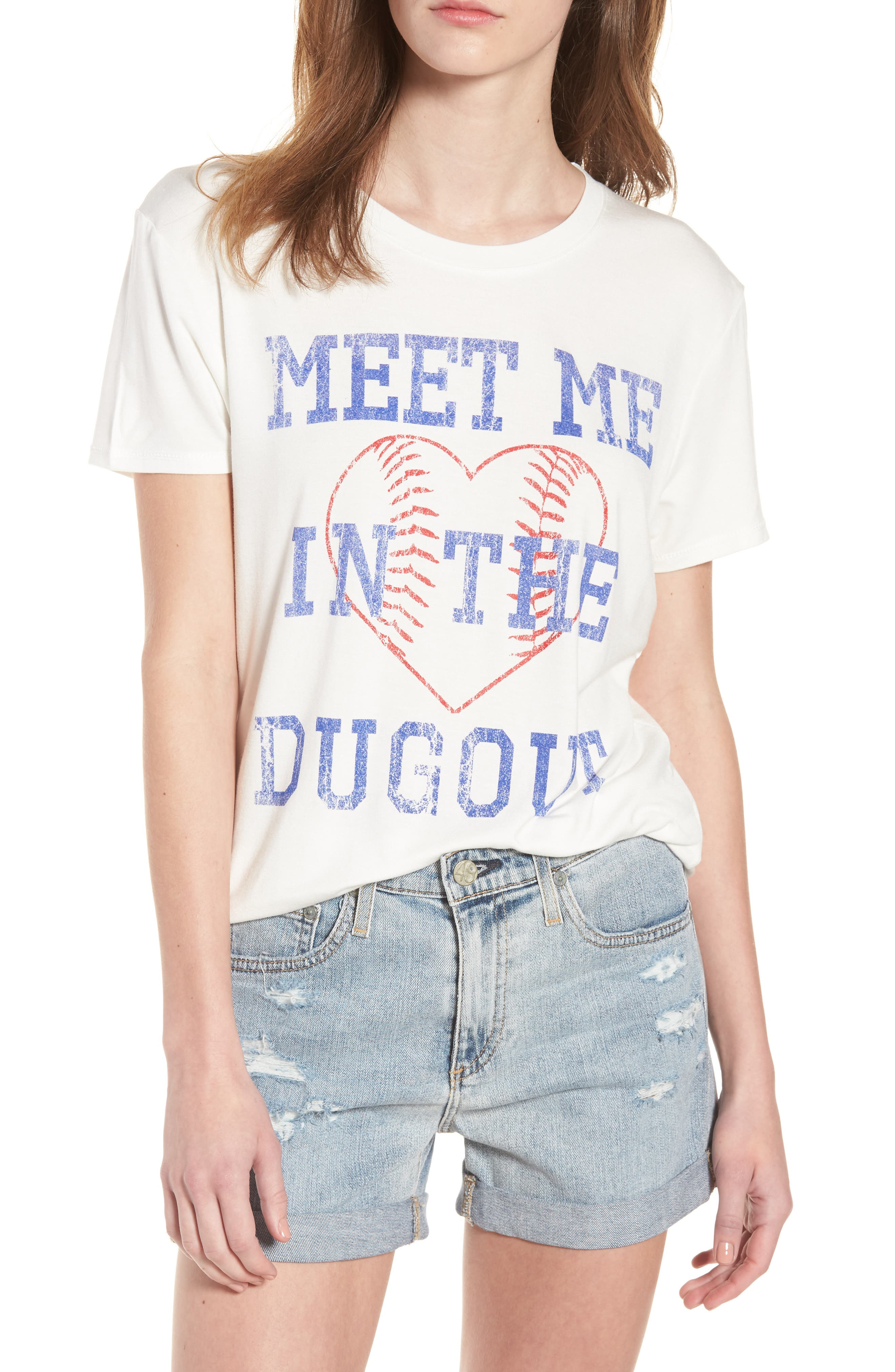 Meet Me in the Dugout Tee,                             Main thumbnail 1, color,