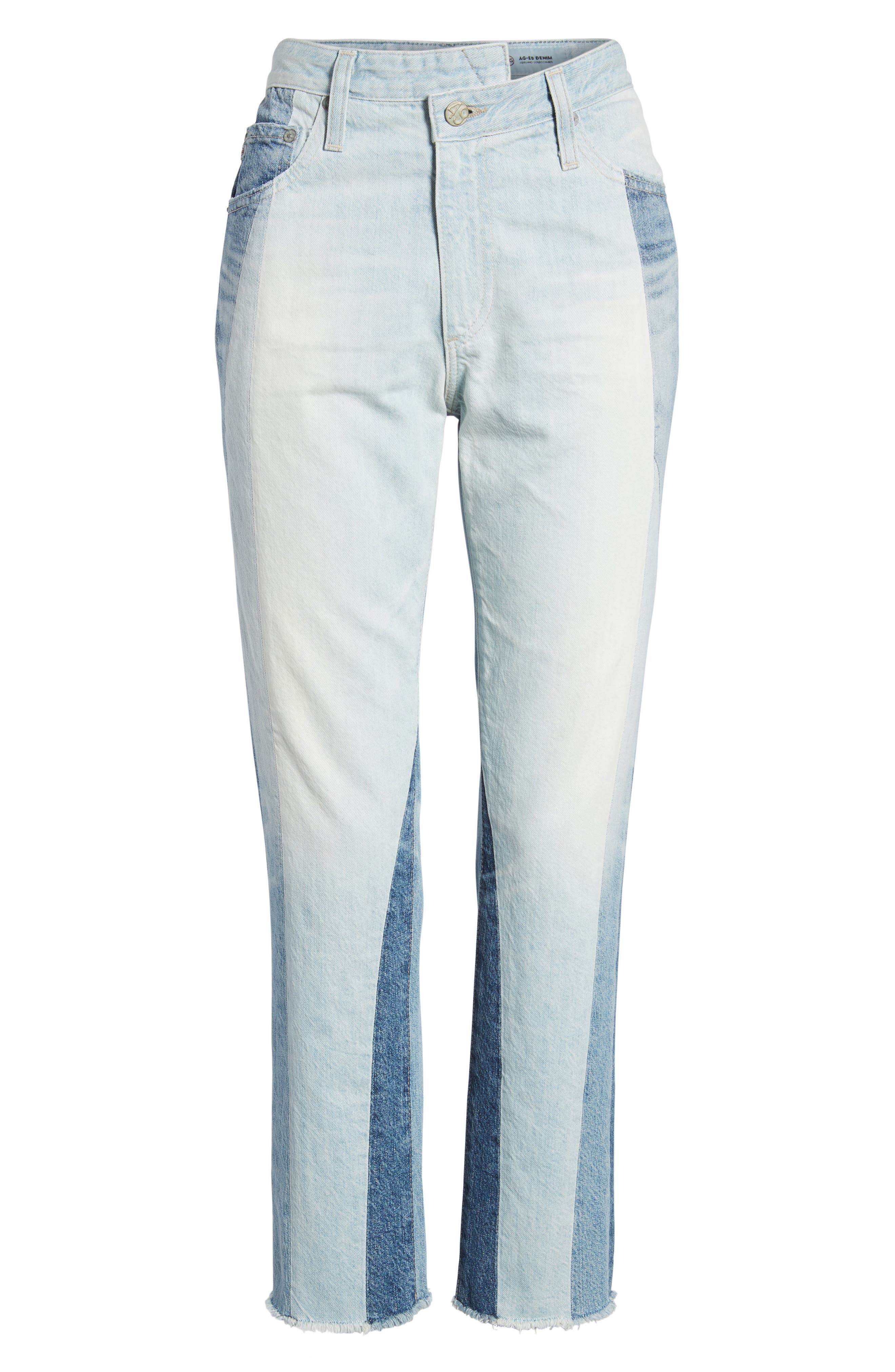 The Isabelle High Waist Crop Straight Leg Jeans,                             Alternate thumbnail 7, color,