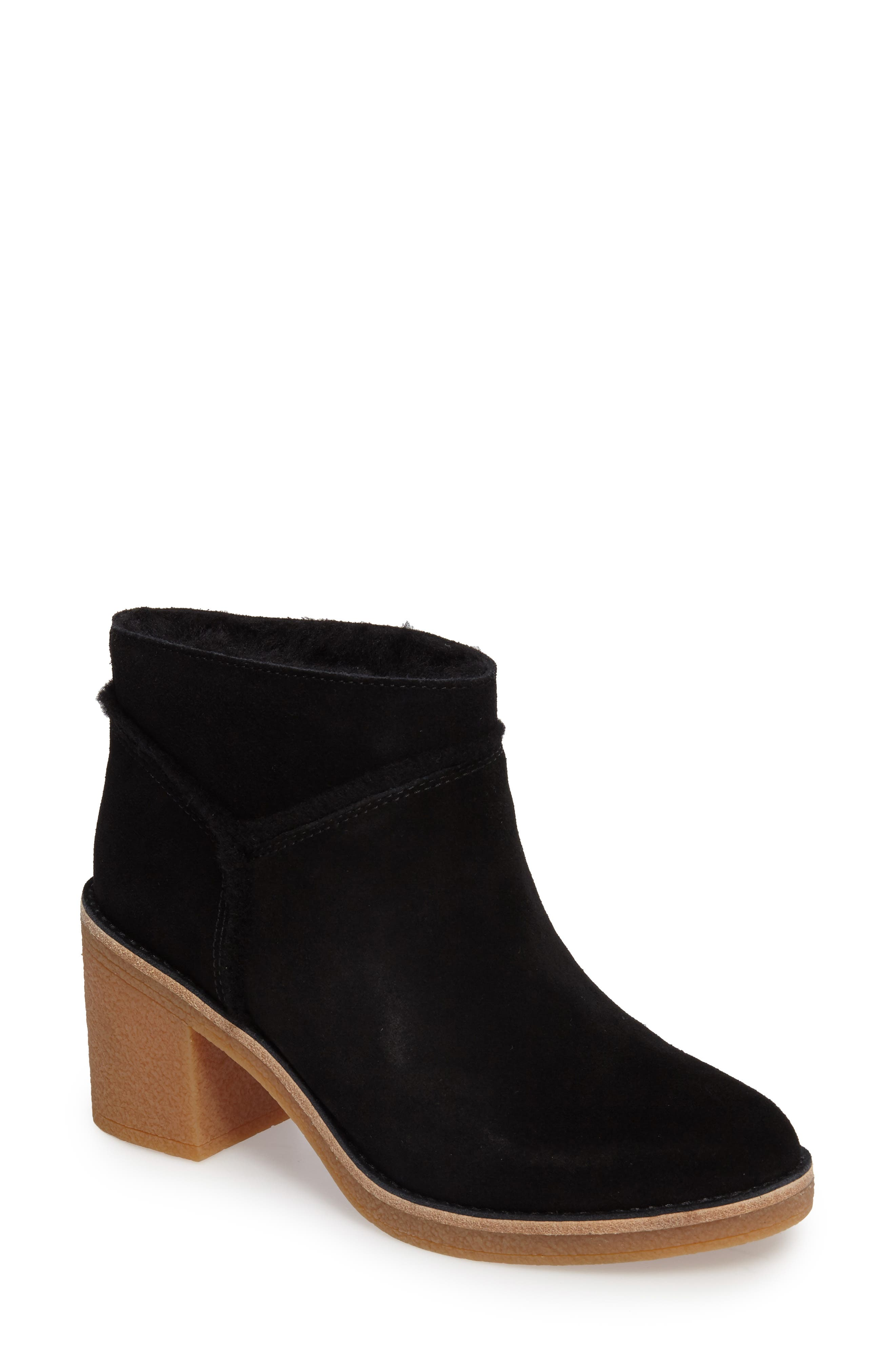 Kasen Genuine Sheepskin Lined Bootie,                             Main thumbnail 1, color,                             001