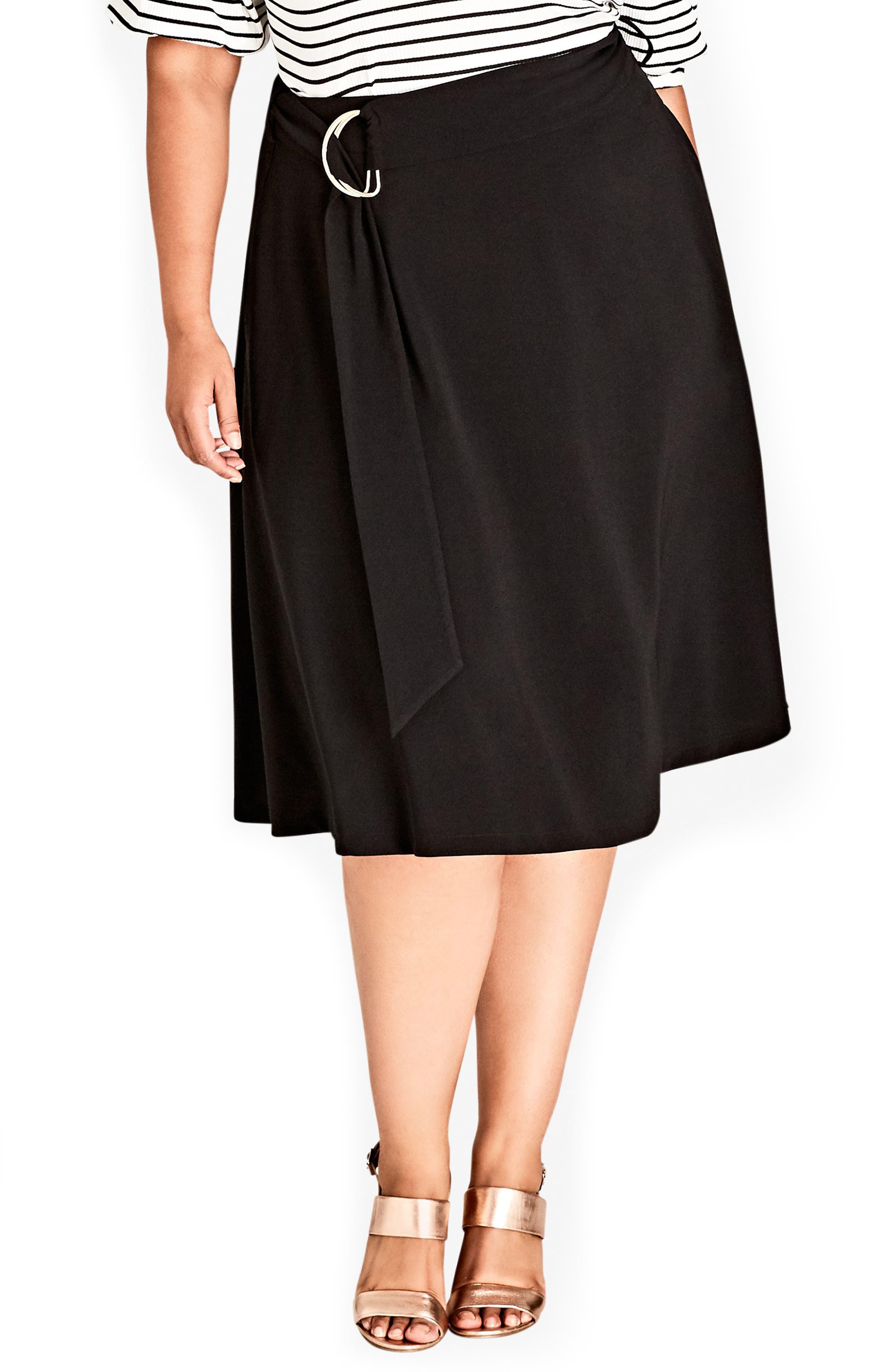 Joyful A-Line Skirt,                         Main,                         color, BLACK