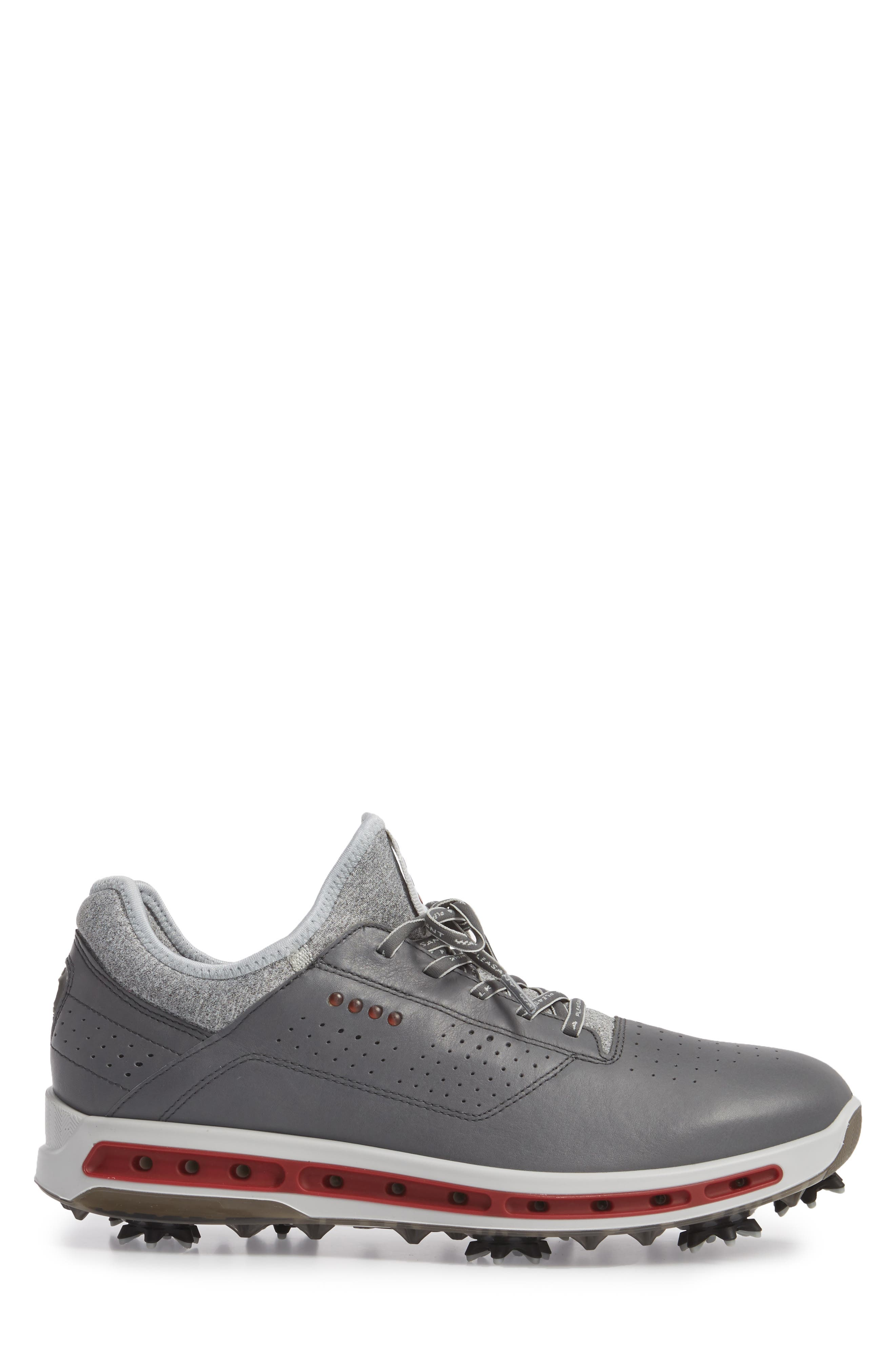 Cool 18 Gore-Tex Golf Shoe,                             Alternate thumbnail 3, color,                             DARK SHADOW LEATHER