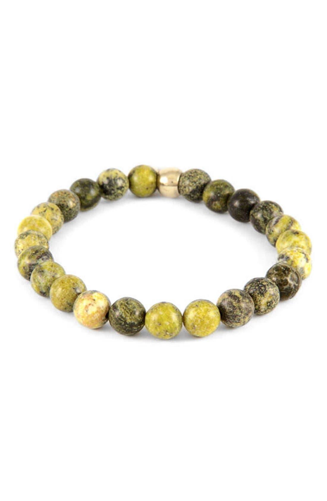 Yellow Turquoise Bead Bracelet,                             Main thumbnail 1, color,                             DARK YELLOW